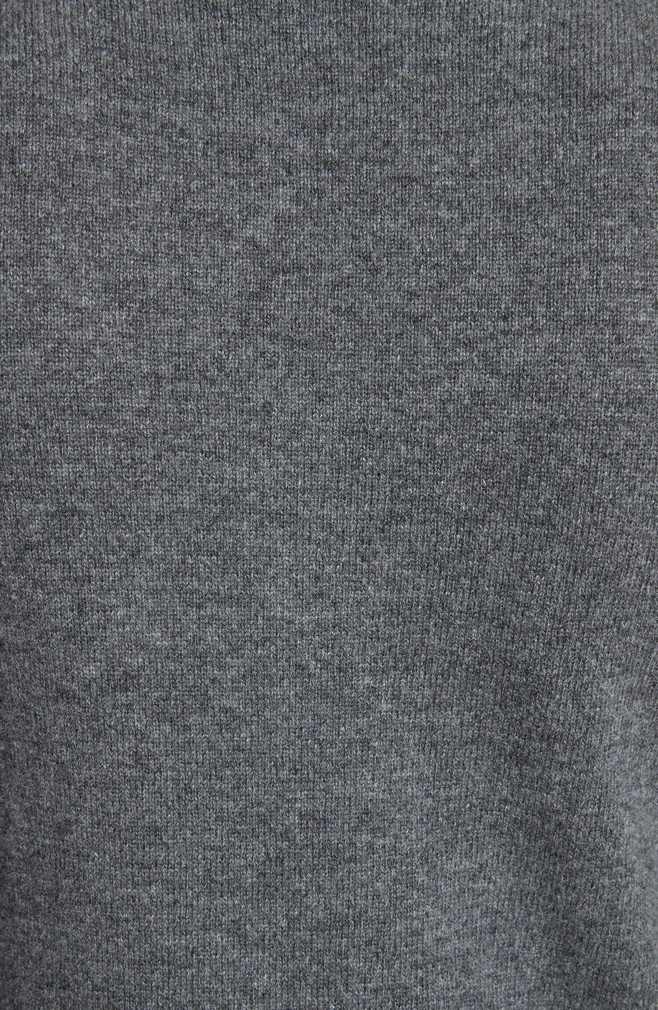 Wool V-Neck Sweater,                             Alternate thumbnail 5, color,                             GREY