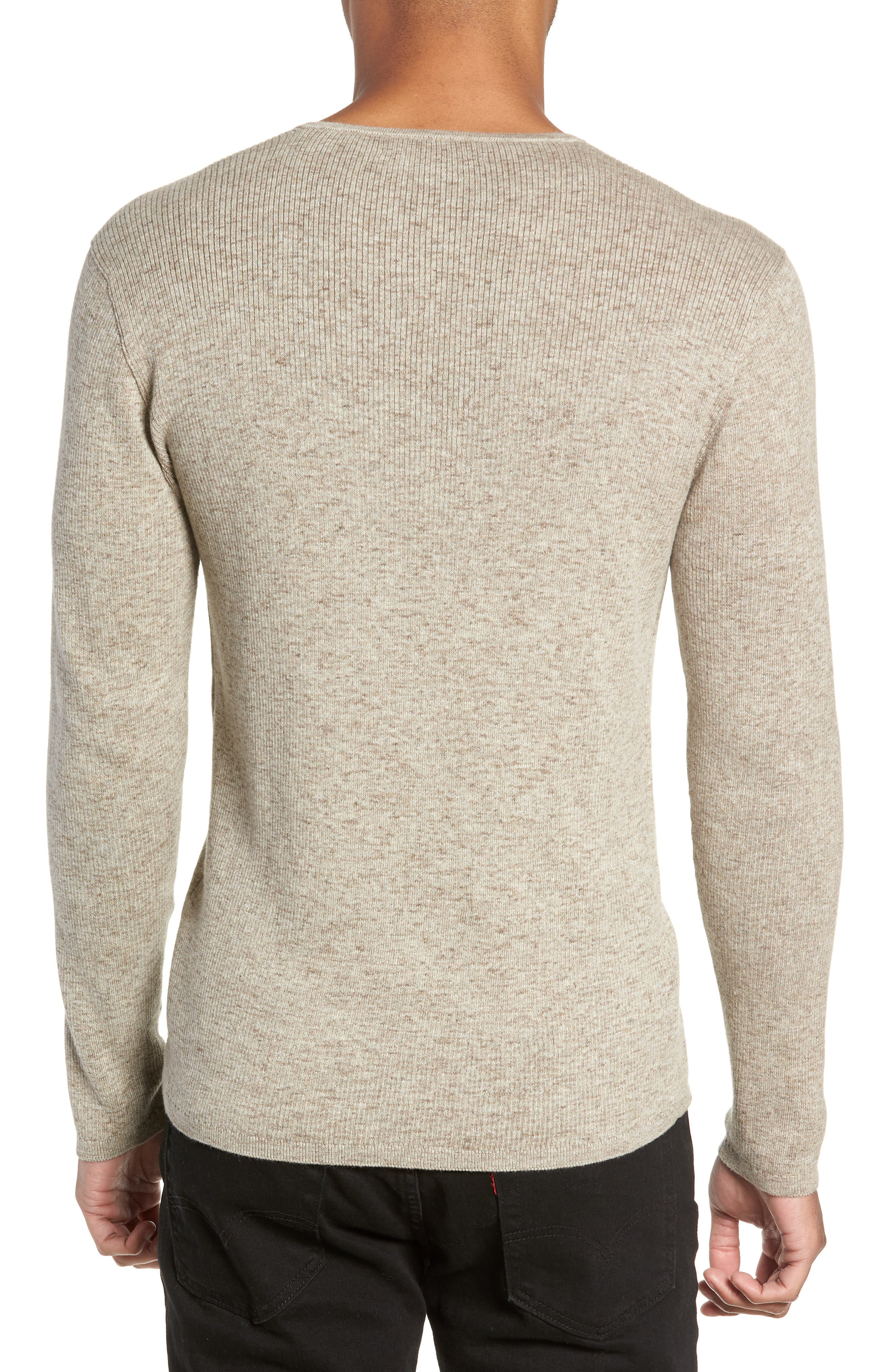 Cotton & Wool Henley Sweater,                             Alternate thumbnail 2, color,                             RYE
