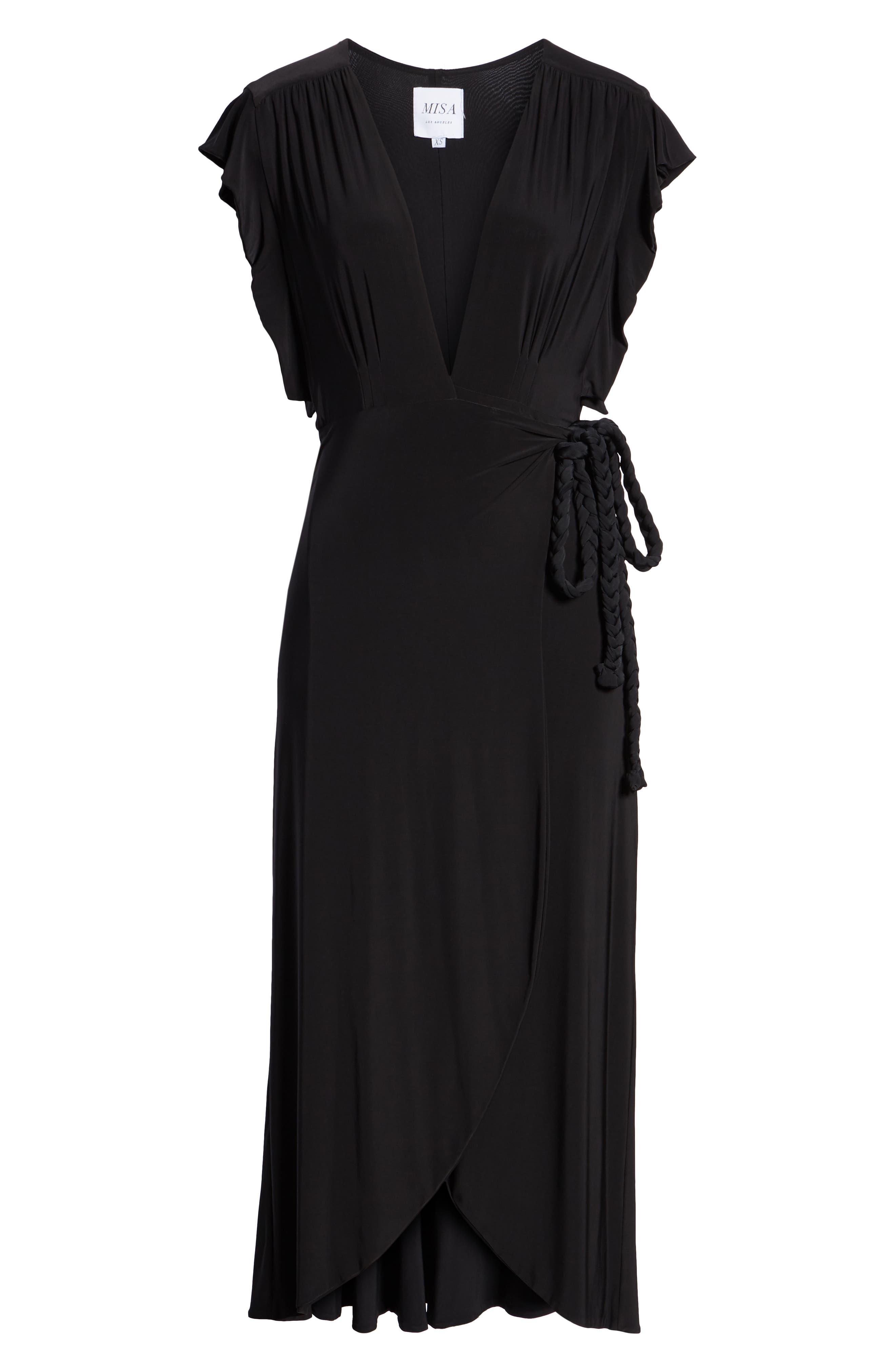 Irina Dress,                             Alternate thumbnail 7, color,                             BLACK