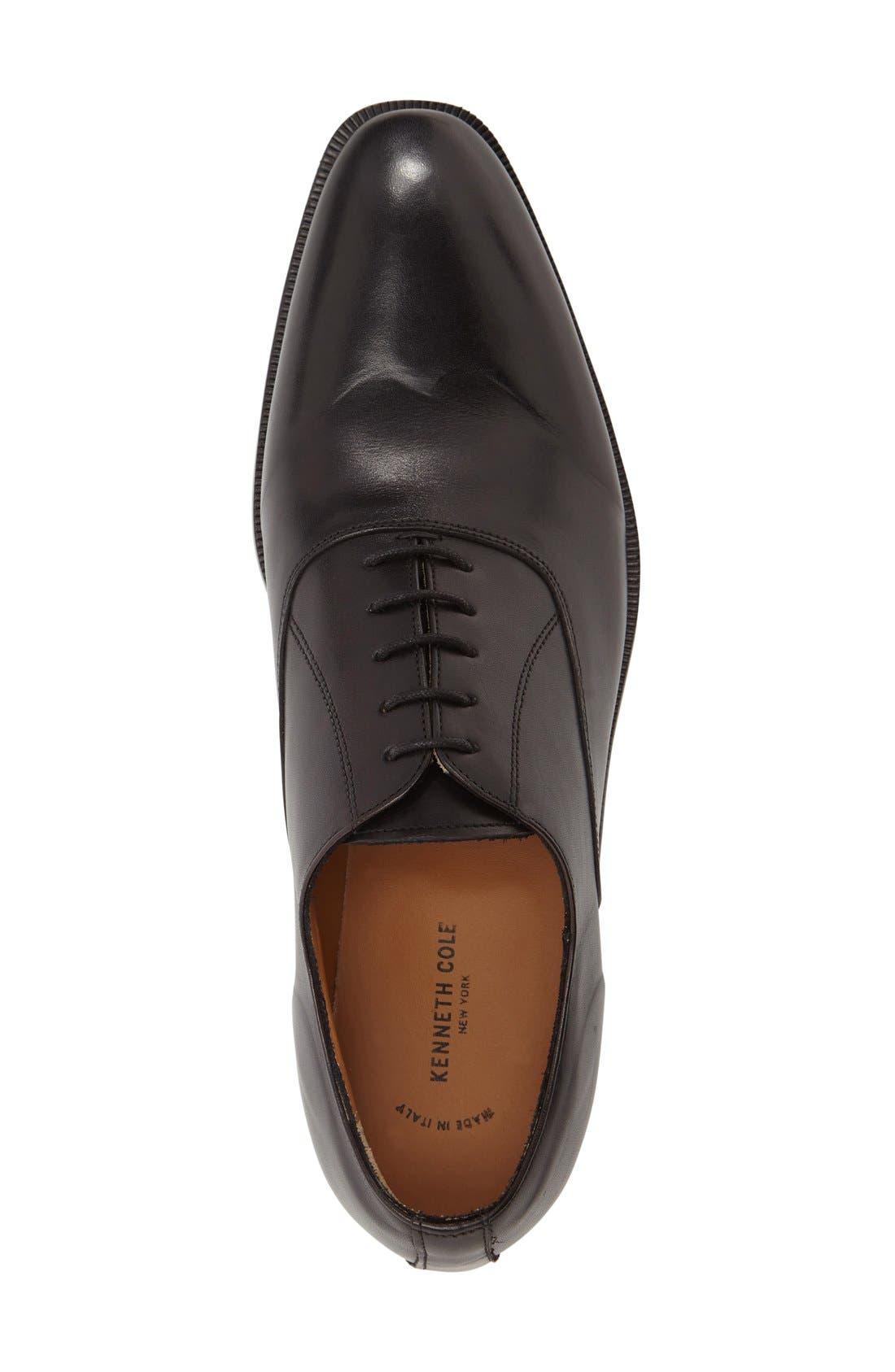 Top Coat Plain Toe Oxford,                             Alternate thumbnail 4, color,                             001