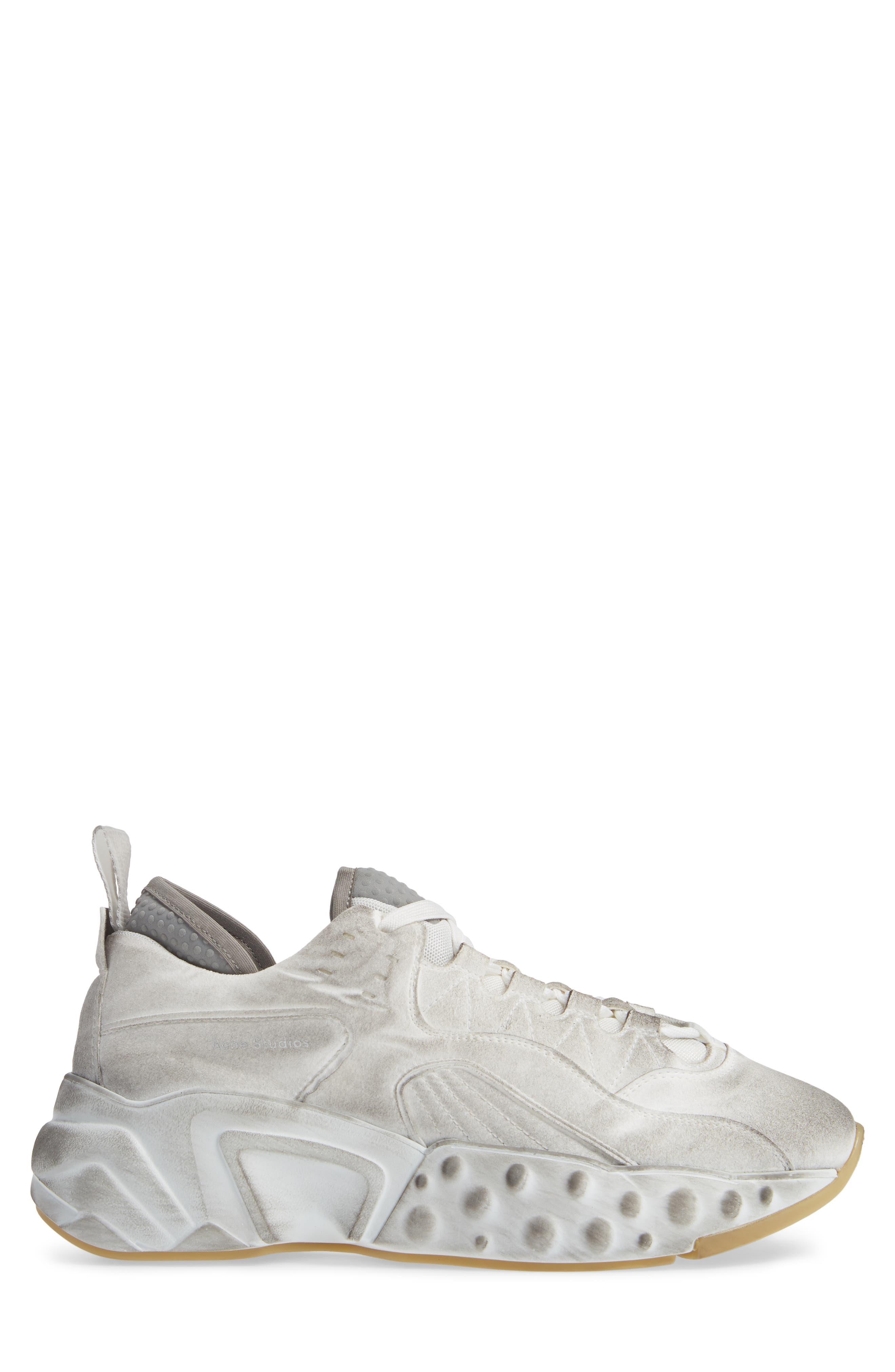 Rockaway Built-Up Sneaker,                             Alternate thumbnail 3, color,                             WHITE