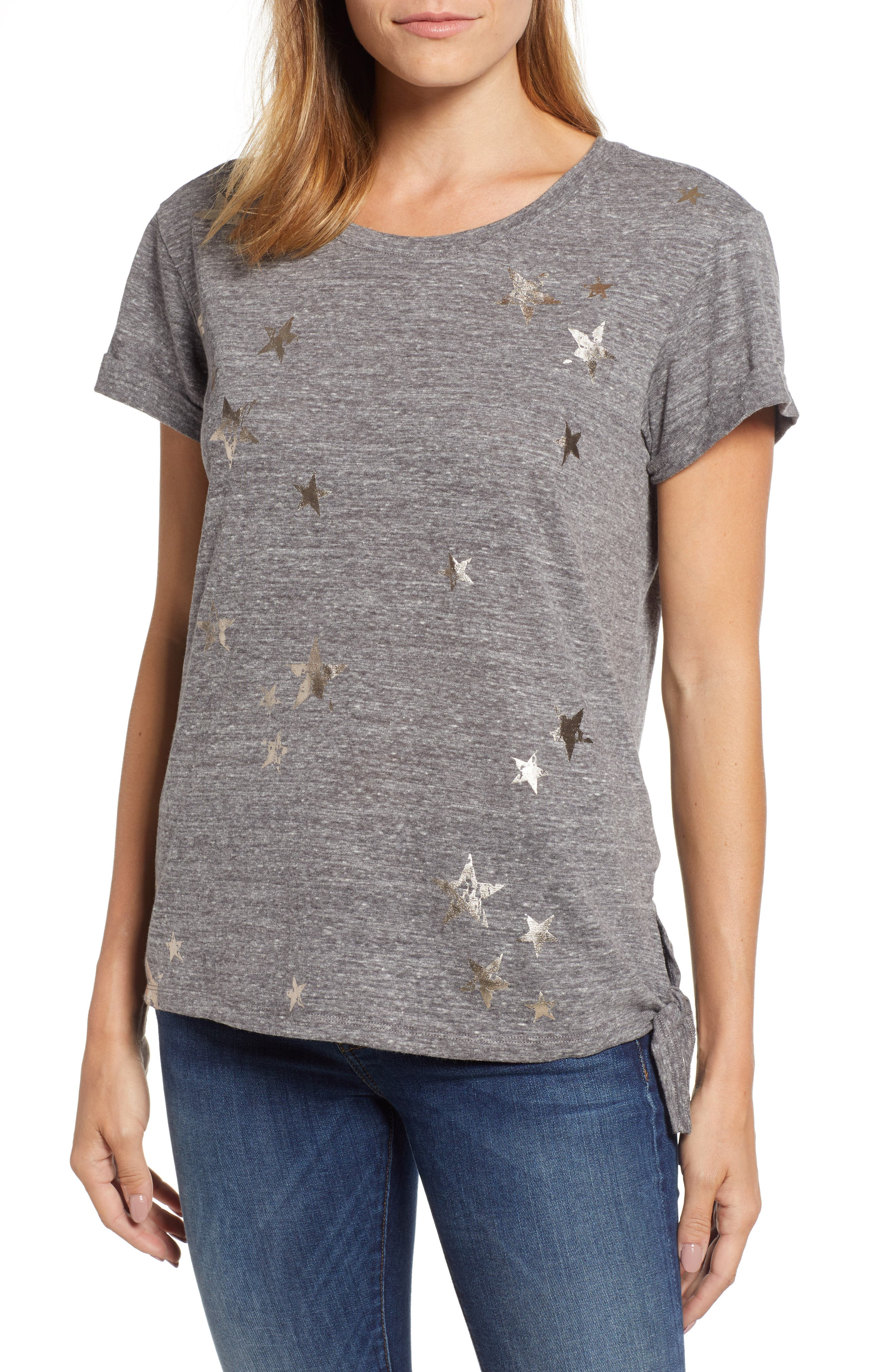 Star Side Tie Tee,                             Main thumbnail 1, color,                             069