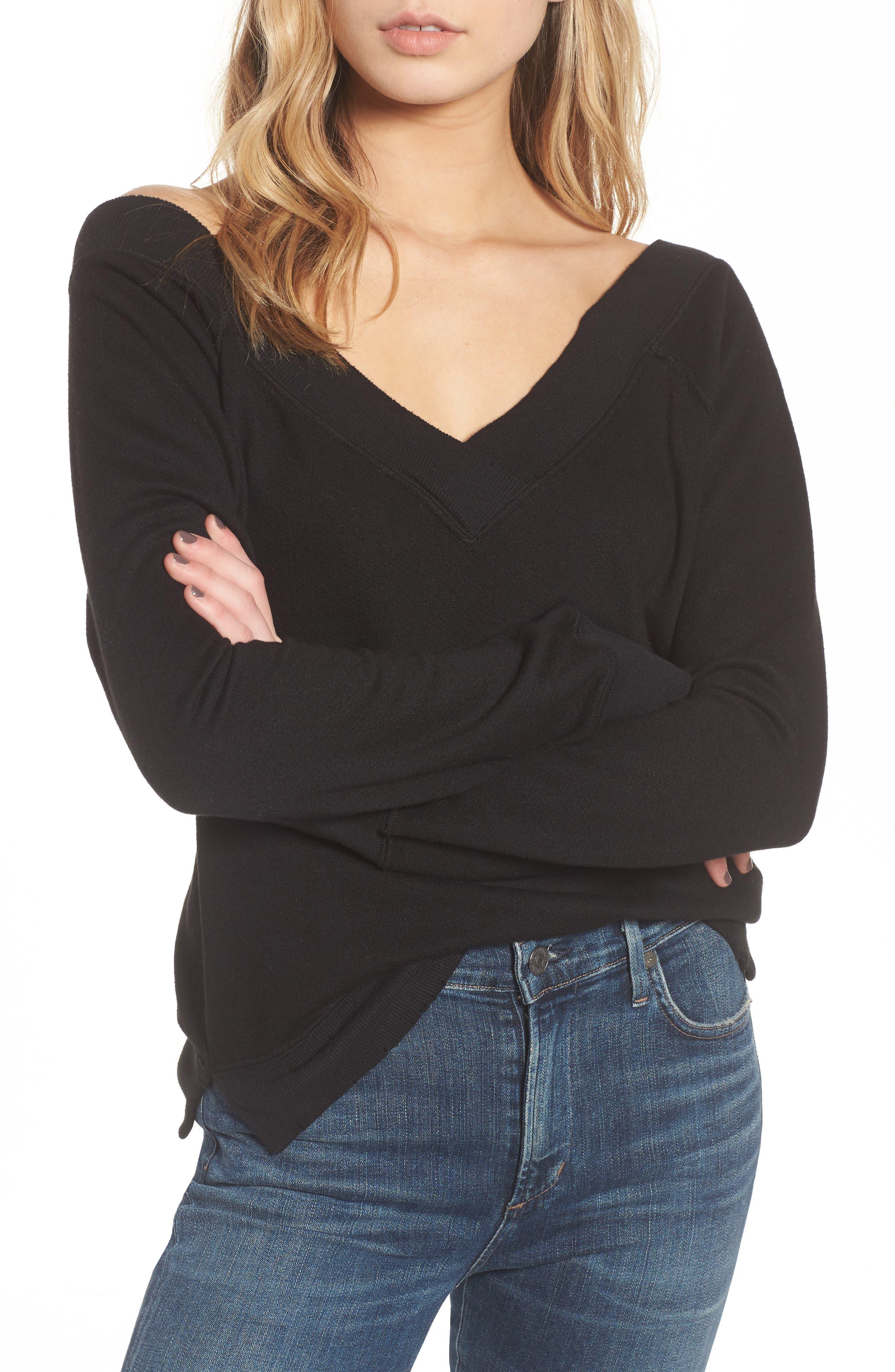 Mayer V-Neck Sweatshirt,                         Main,                         color, 002