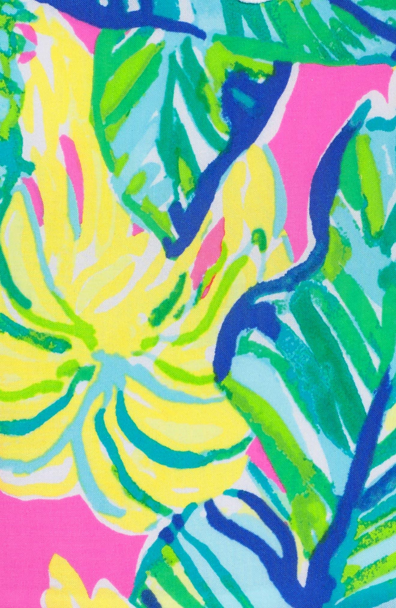 Kinley Halter Dress,                             Alternate thumbnail 6, color,                             PINK SUNSET LOCAL FLAVOR