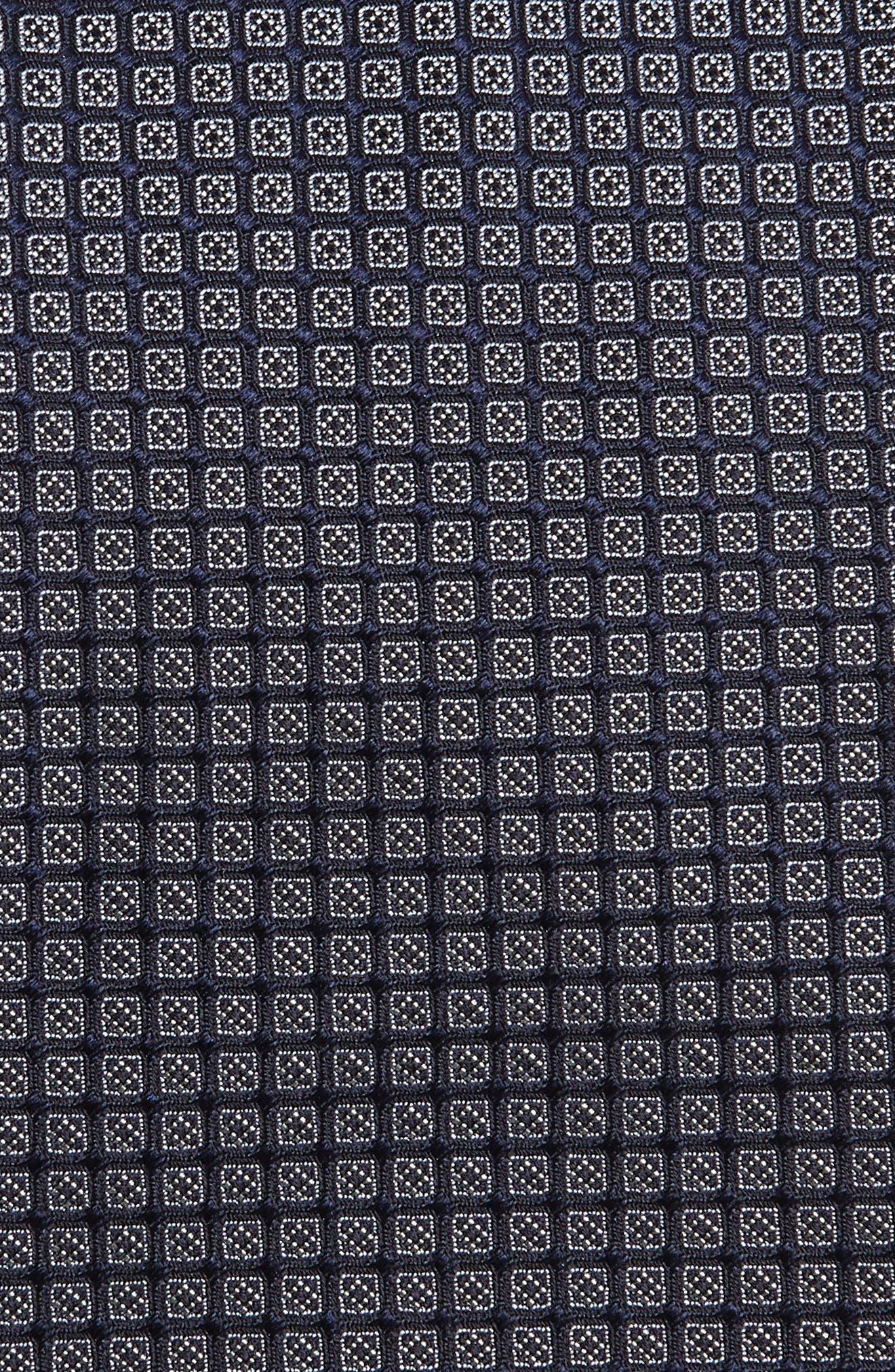 Check Silk Tie,                             Alternate thumbnail 2, color,                             CAPRI BLUE