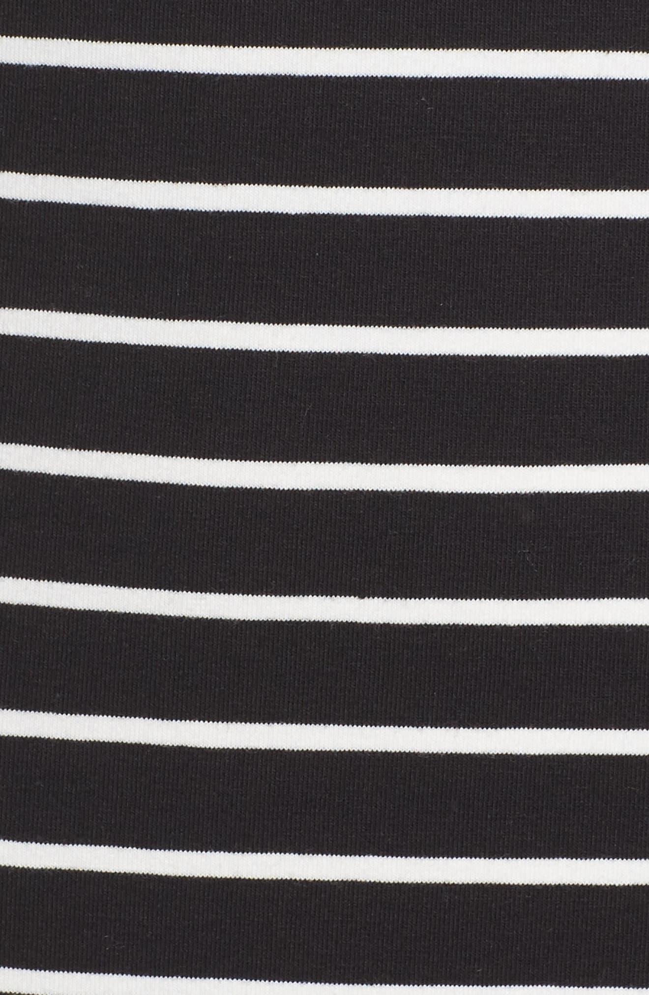 Knit Stripe Body-Con Dress,                             Alternate thumbnail 6, color,                             006