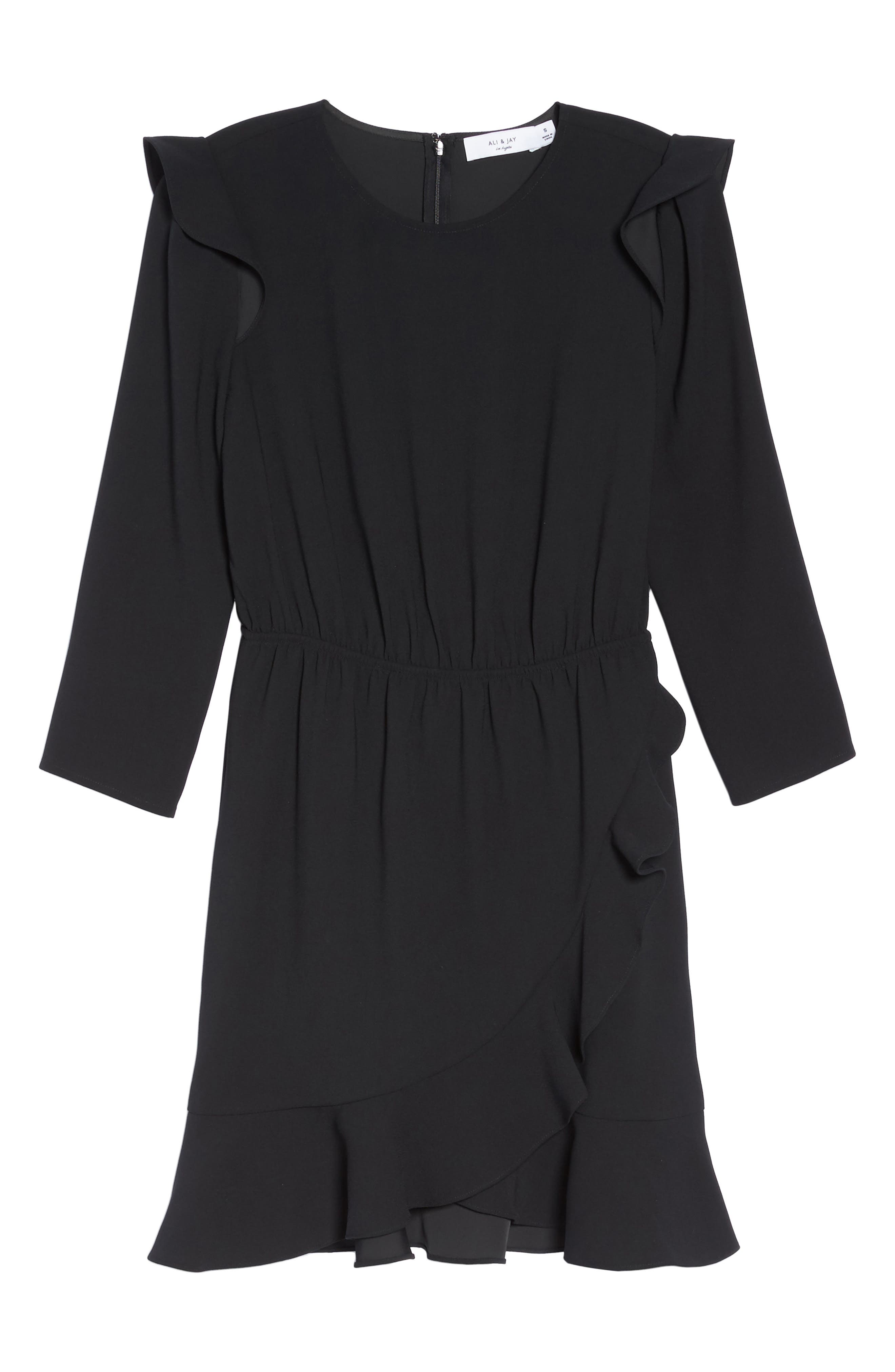 St Germain Ruffle Fit & Flare Dress,                             Alternate thumbnail 11, color,