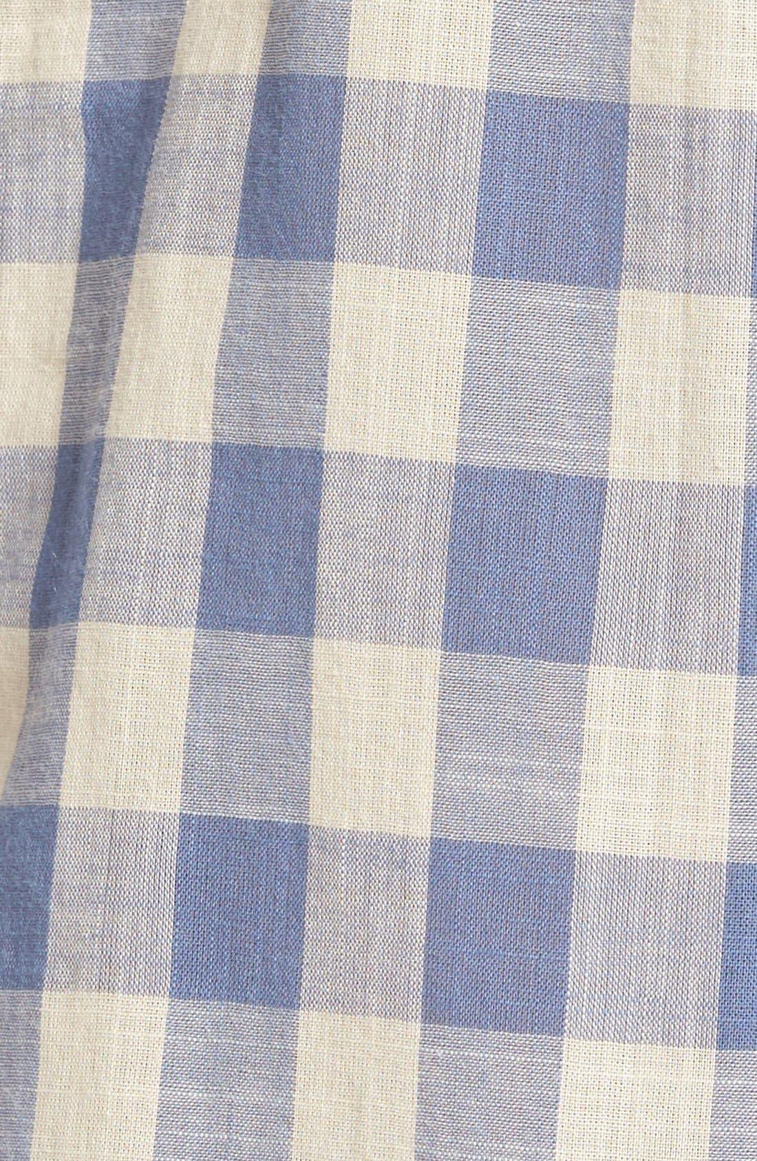'Courier' Back Button Shirt,                             Alternate thumbnail 5, color,                             408