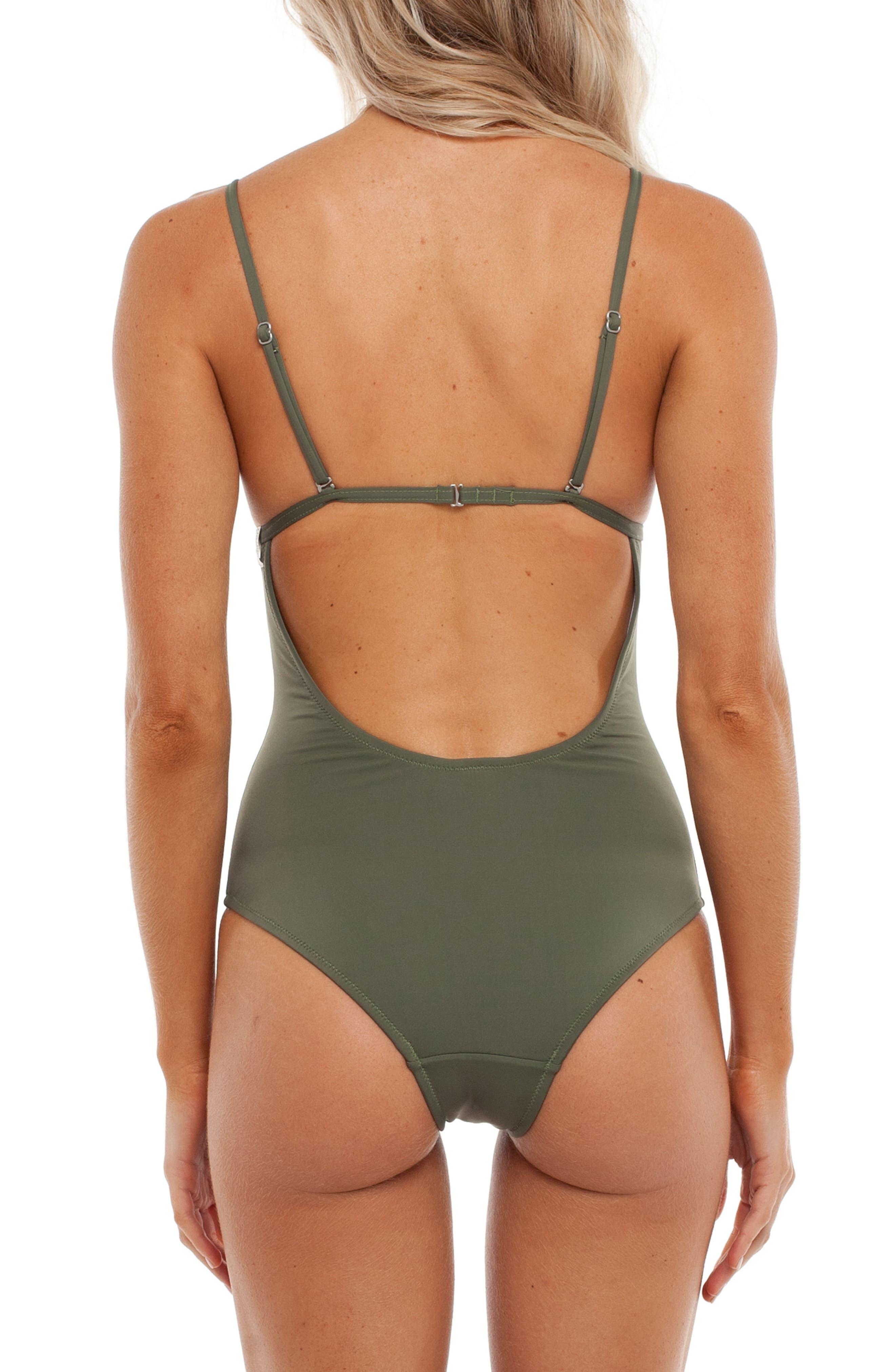 My Bralette One-Piece Swimsuit,                             Alternate thumbnail 4, color,