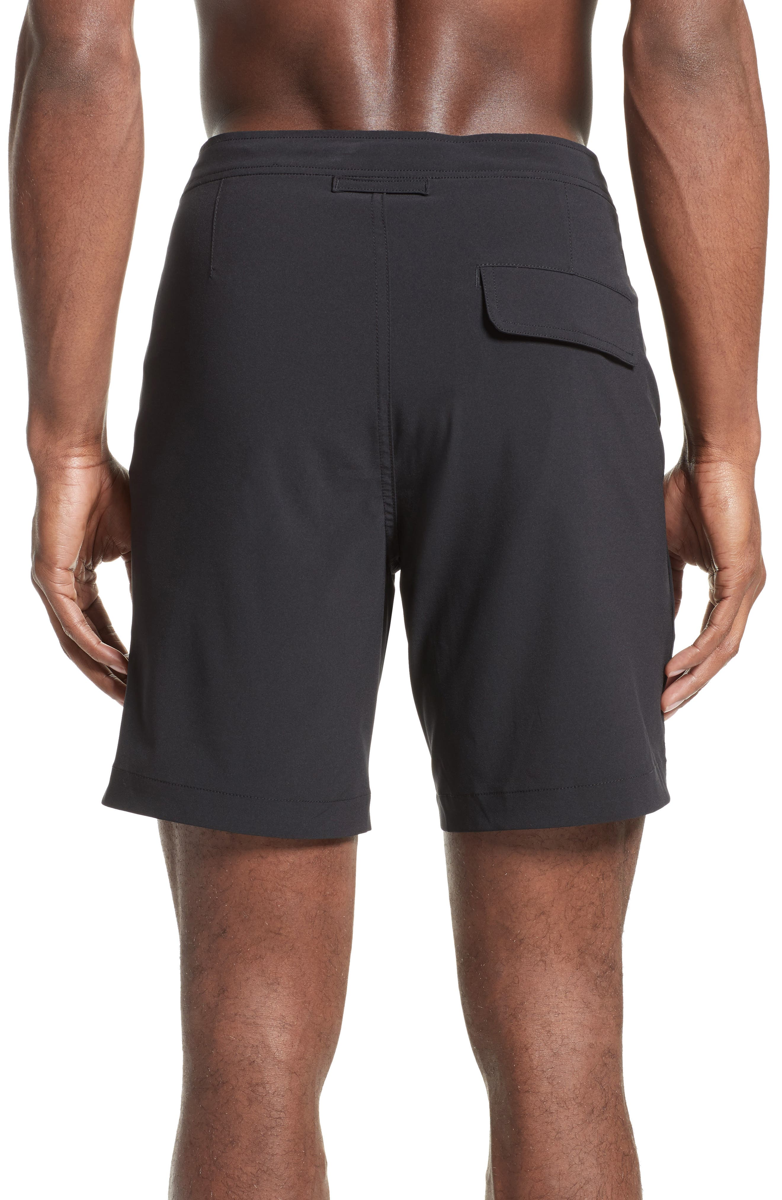 'Calder' Swim Trunks,                             Alternate thumbnail 3, color,                             BLACK