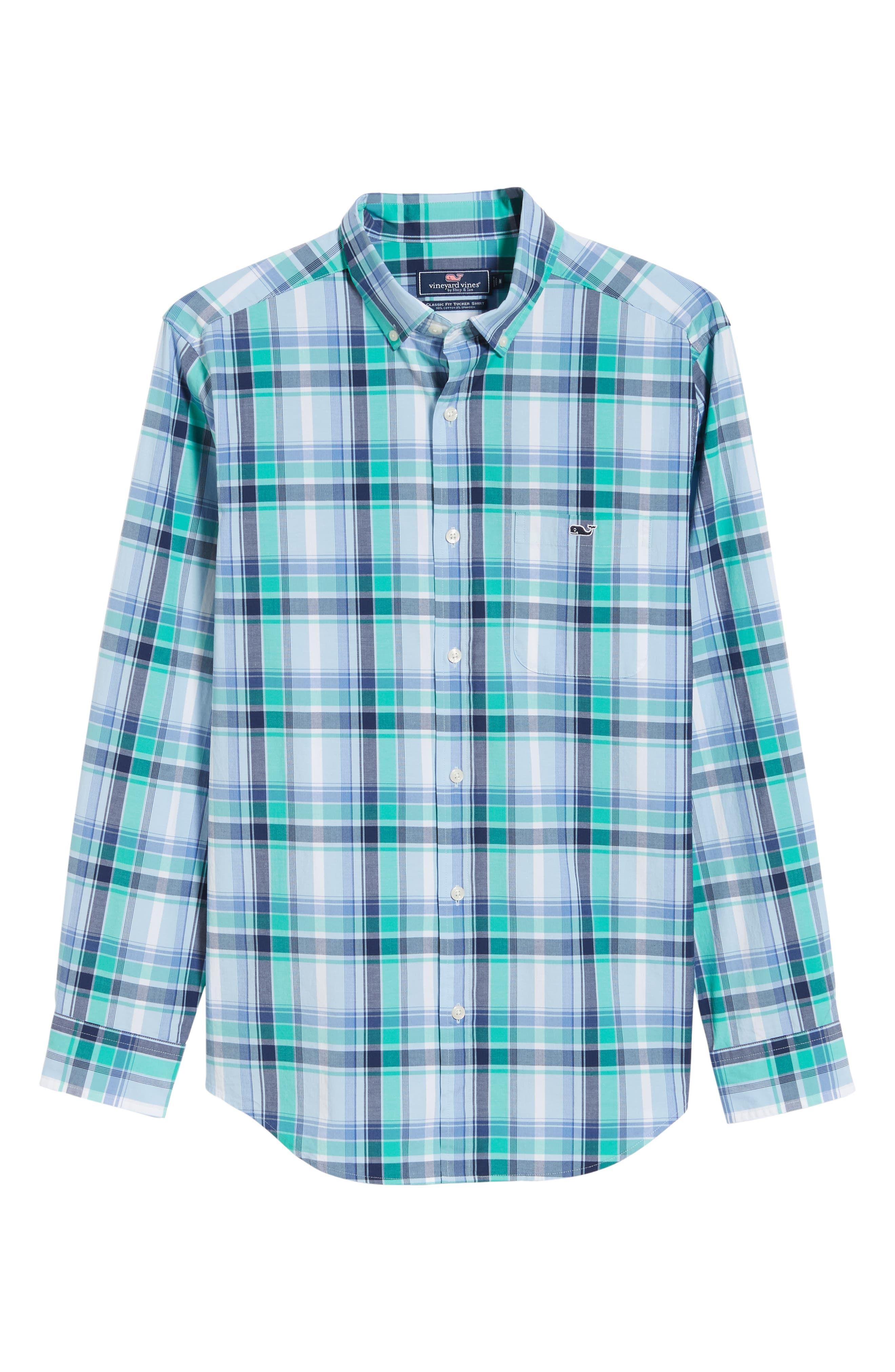 Boathouse Slim Fit Plaid Tucker Sport Shirt,                             Alternate thumbnail 5, color,                             386