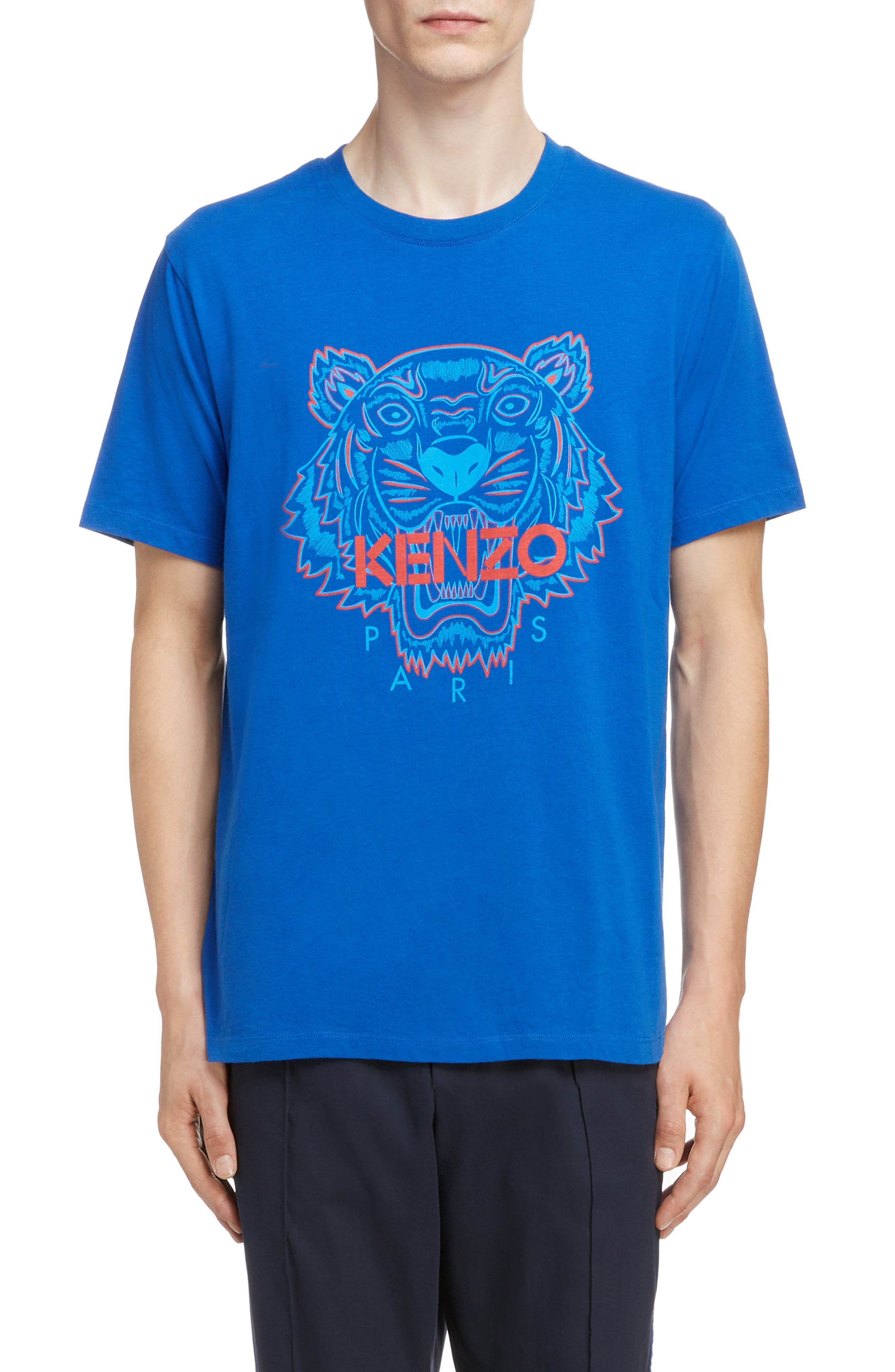 Tiger Graphic T-Shirt, Main, color, FRENCH BLUE