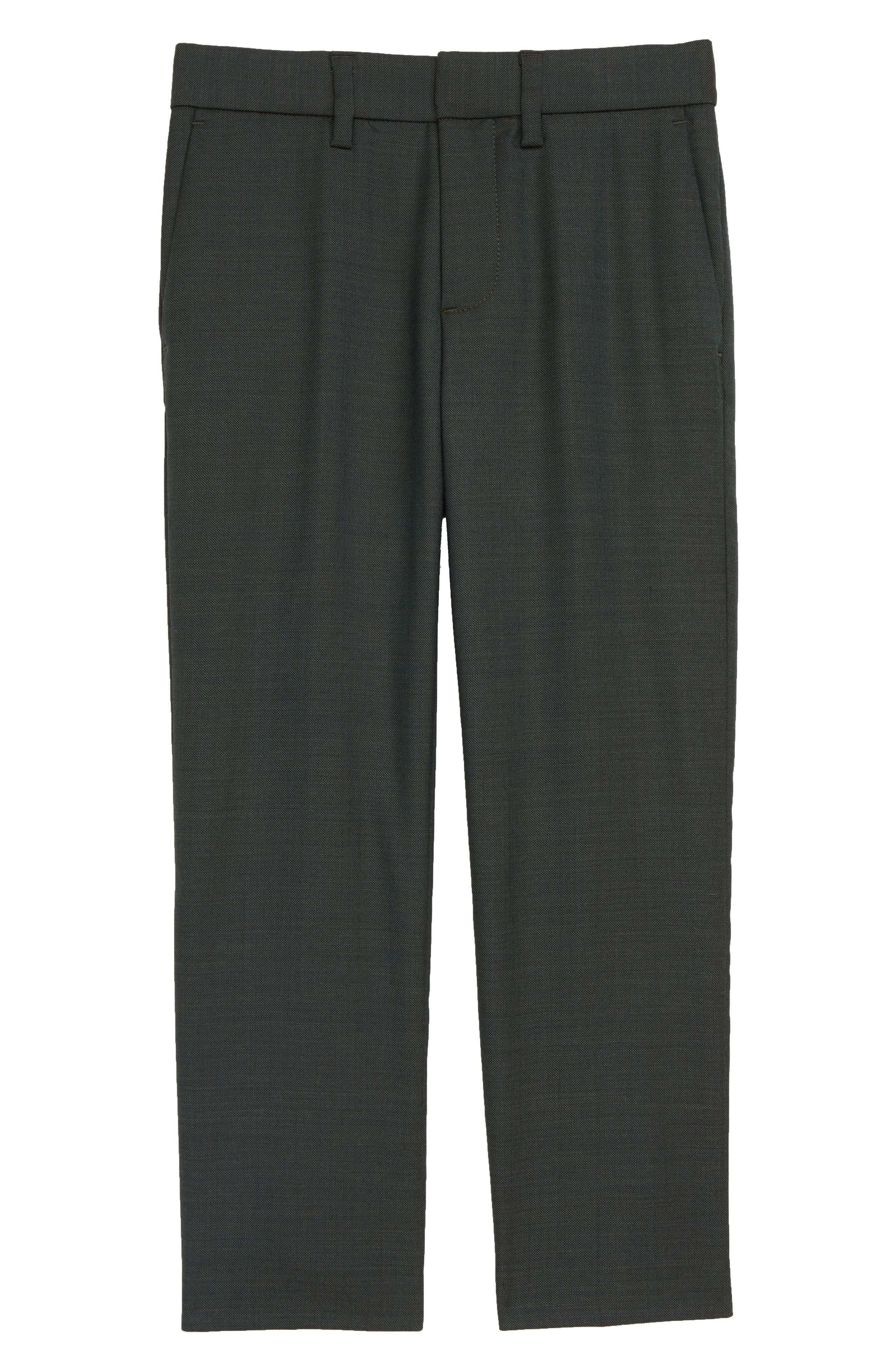 Ludlow Stretch Wool Suit Pants,                         Main,                         color, DARK GREEN