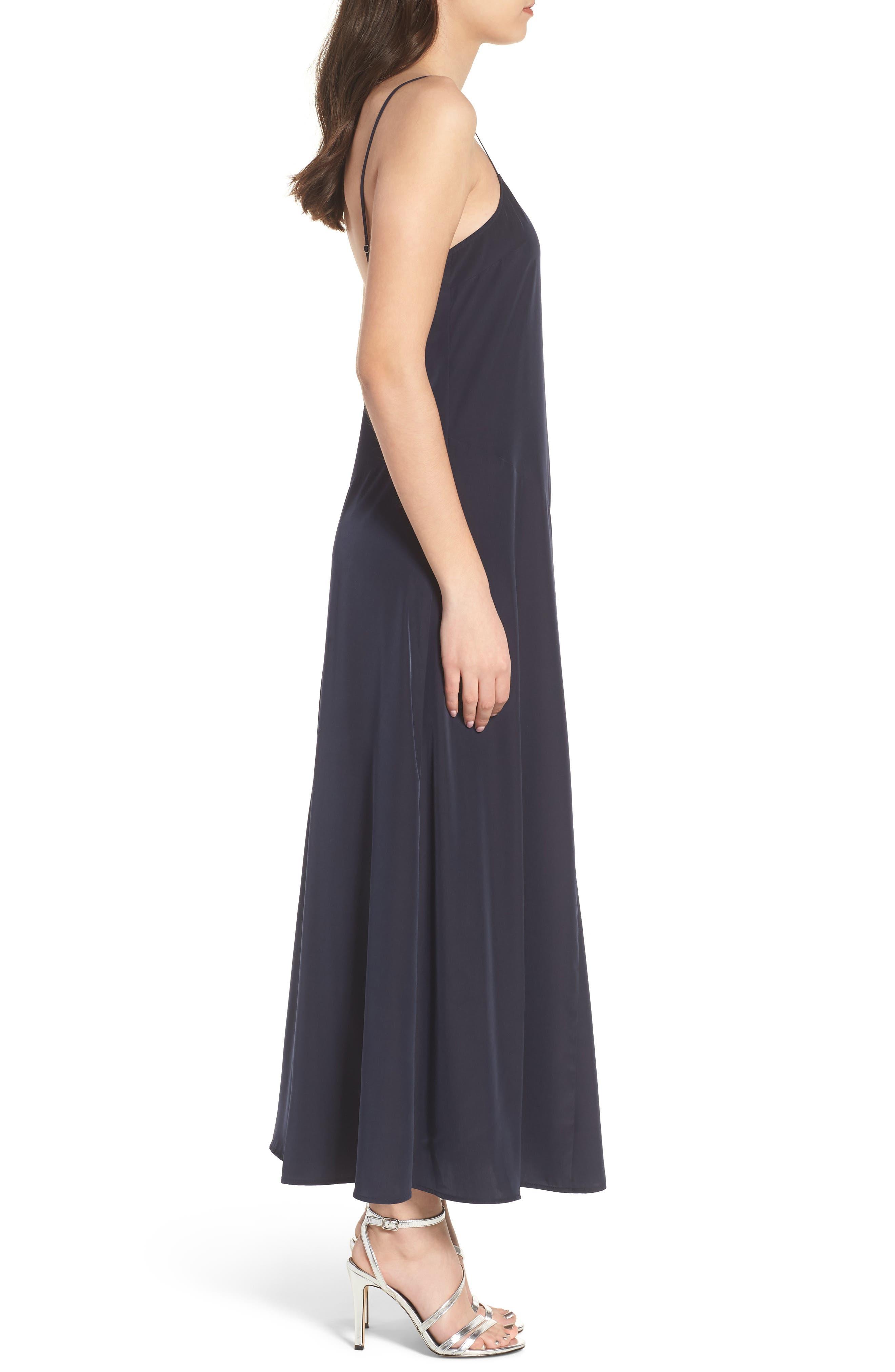 Maxi Slip Dress,                             Alternate thumbnail 3, color,                             410