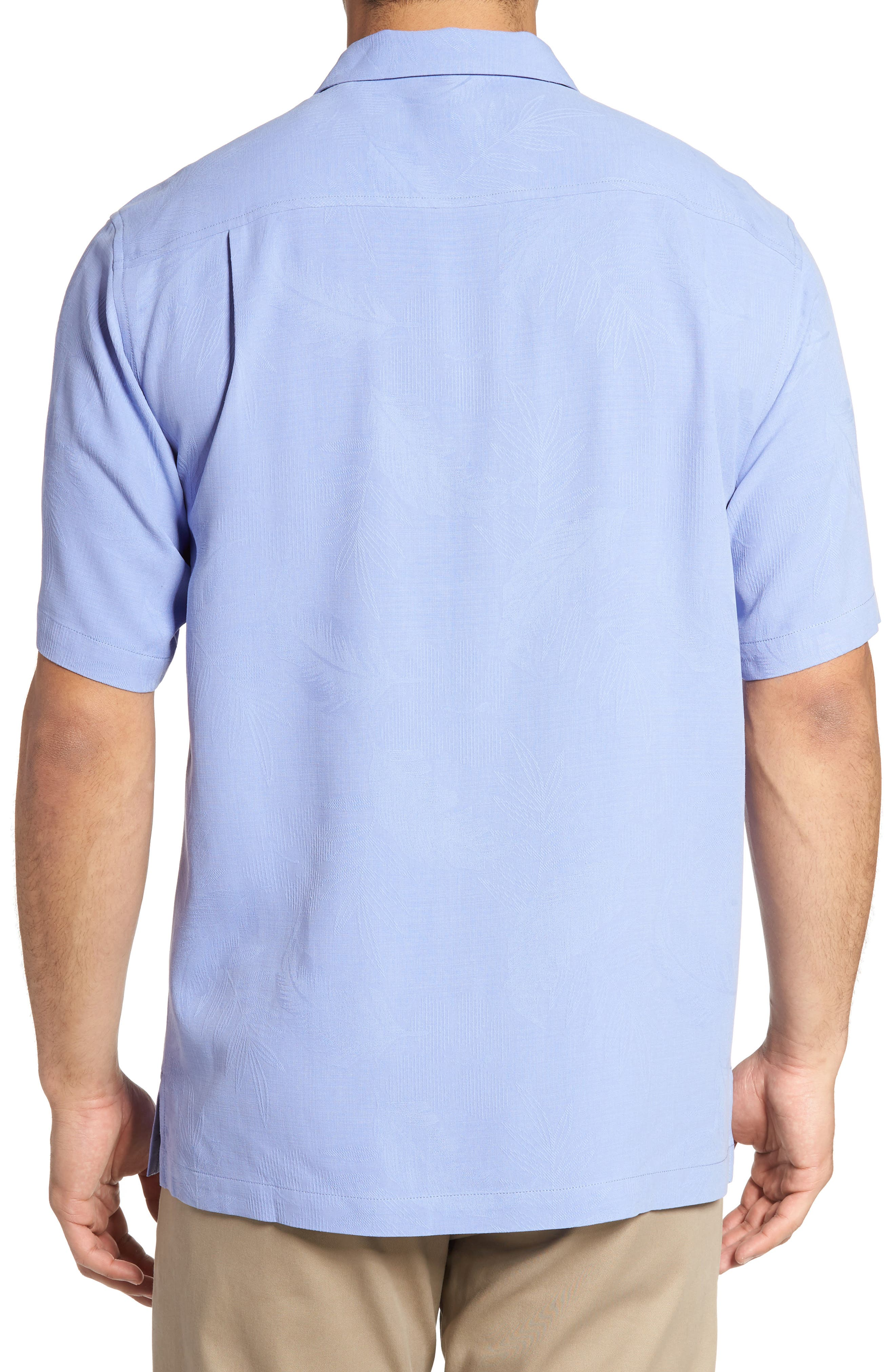 Rio Fronds Short Sleeve Silk Sport Shirt,                             Alternate thumbnail 45, color,
