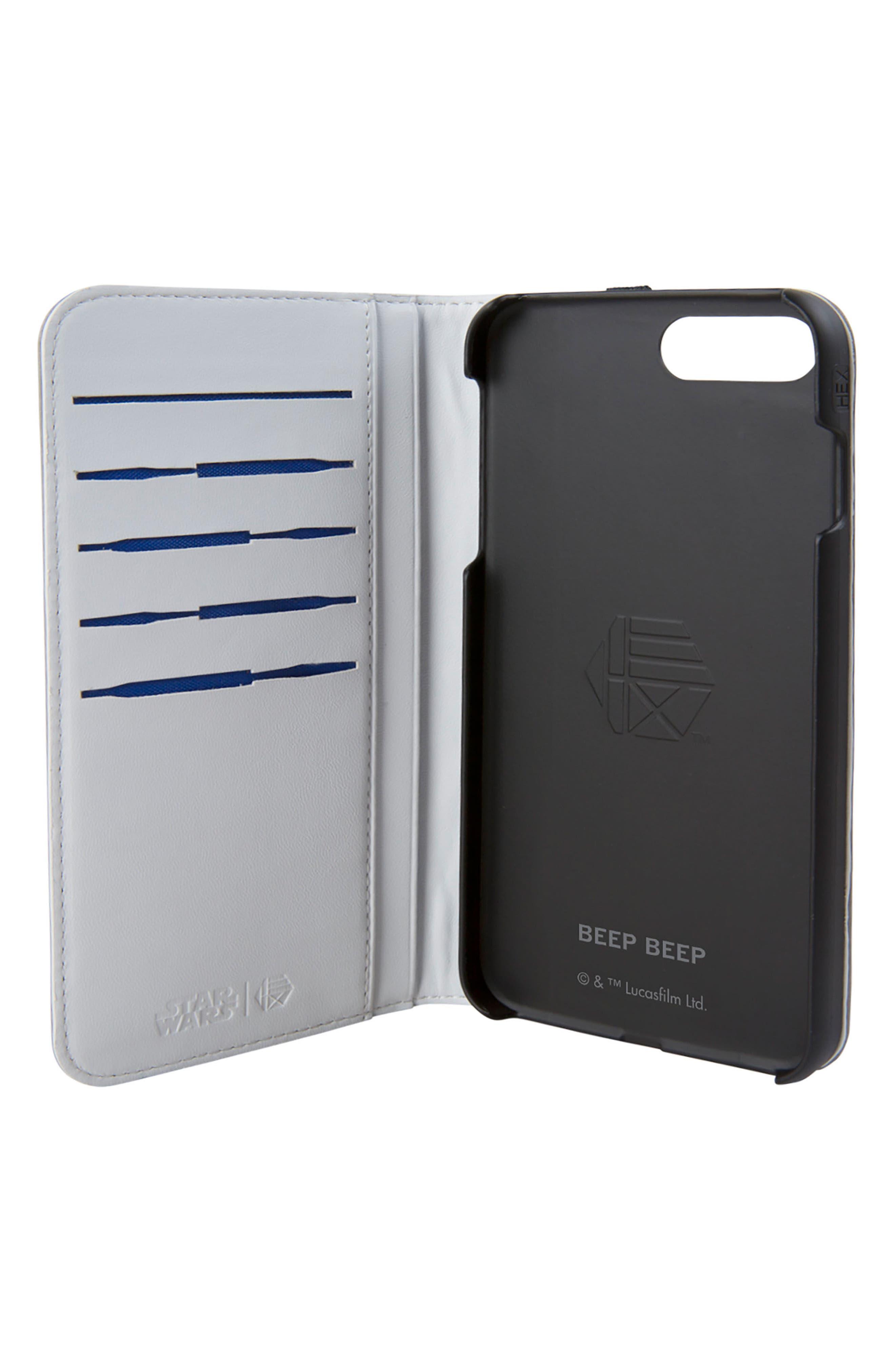 R2-D2 iPhone 8 Plus Wallet Case,                             Alternate thumbnail 2, color,                             036