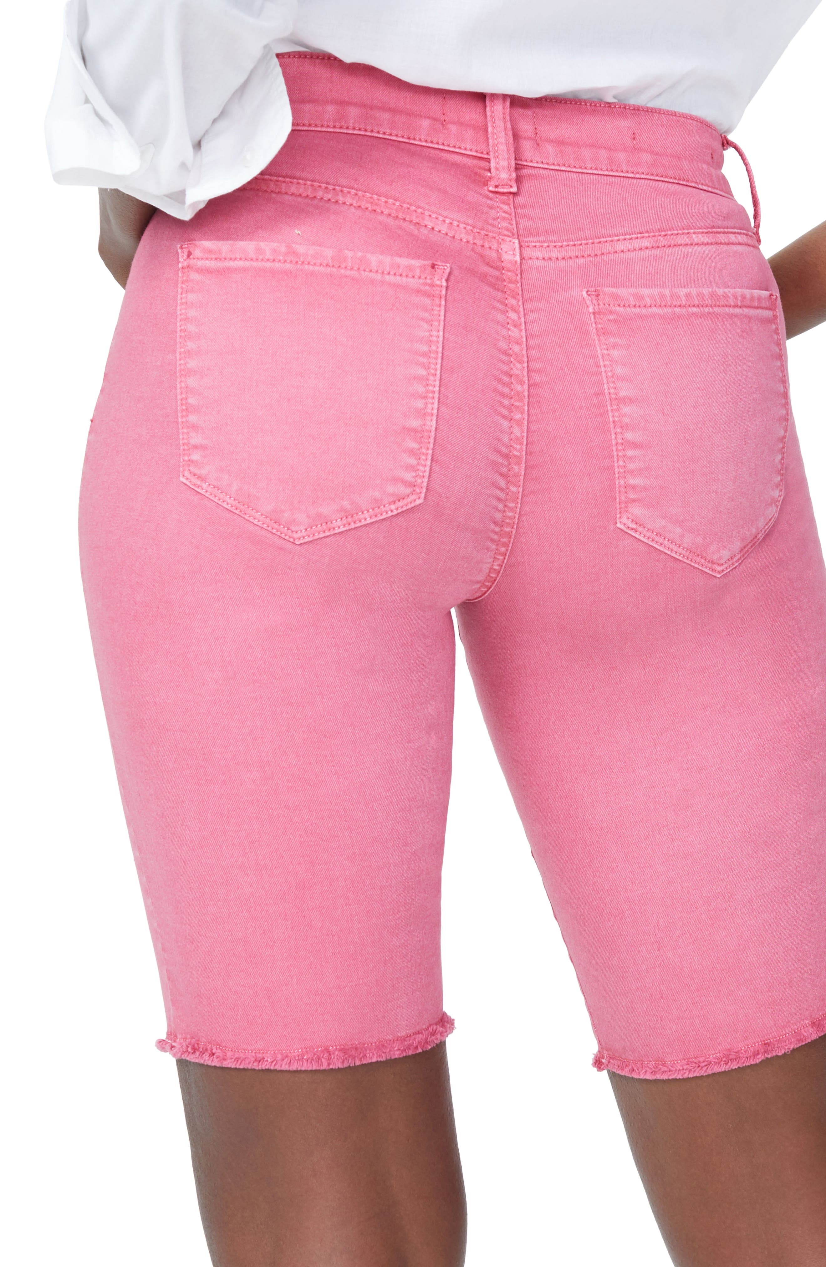 Briella Frayed Hem Bermuda Shorts,                             Alternate thumbnail 16, color,