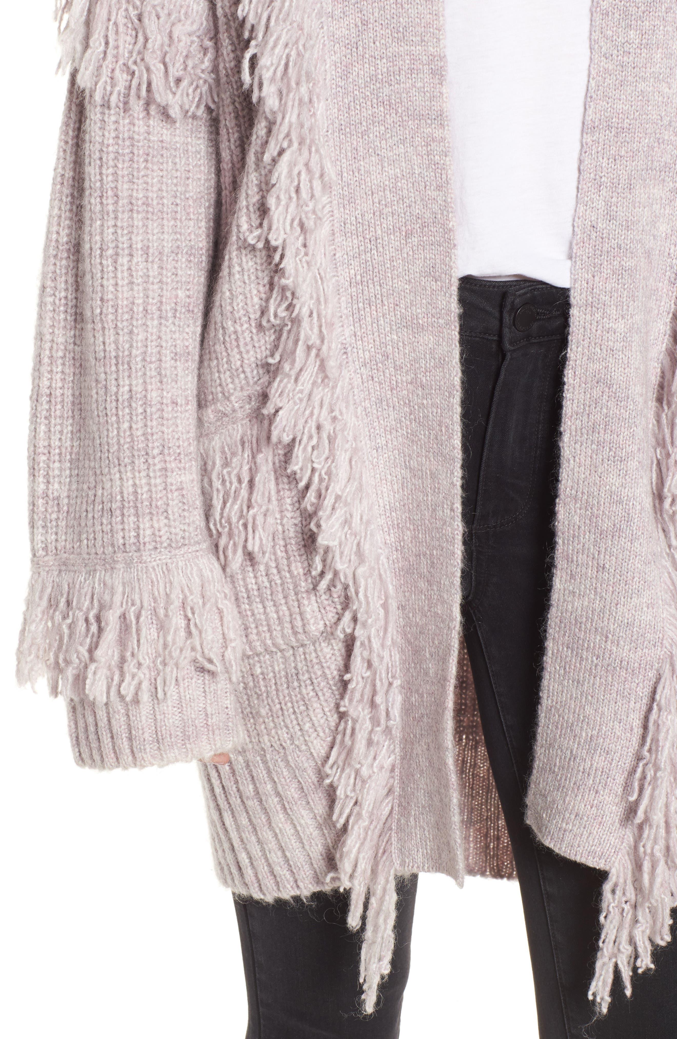 Berea Fringe Cardigan Sweater,                             Alternate thumbnail 4, color,                             684