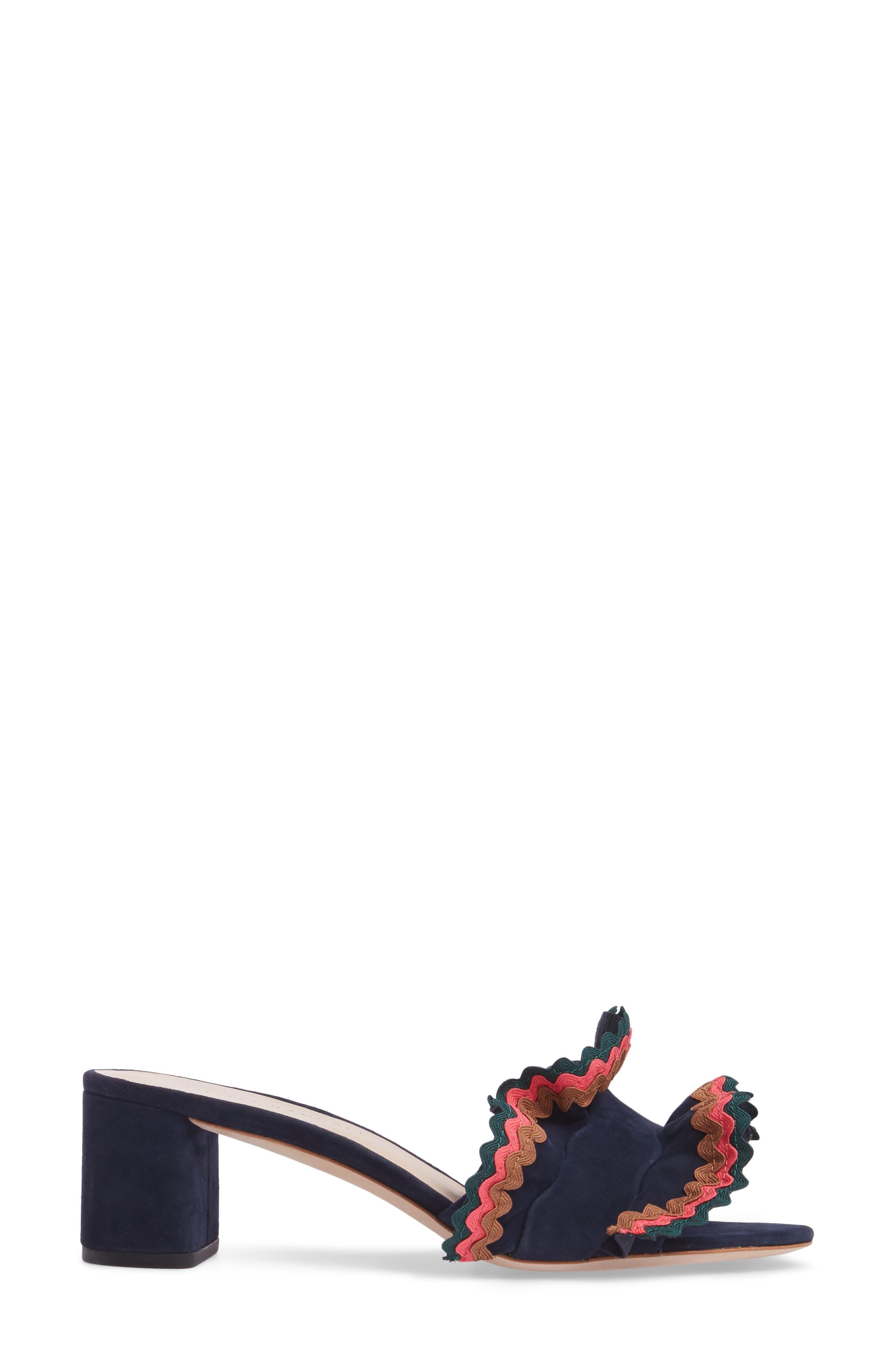 Vera Ruffled Slide Sandal,                             Alternate thumbnail 3, color,                             499