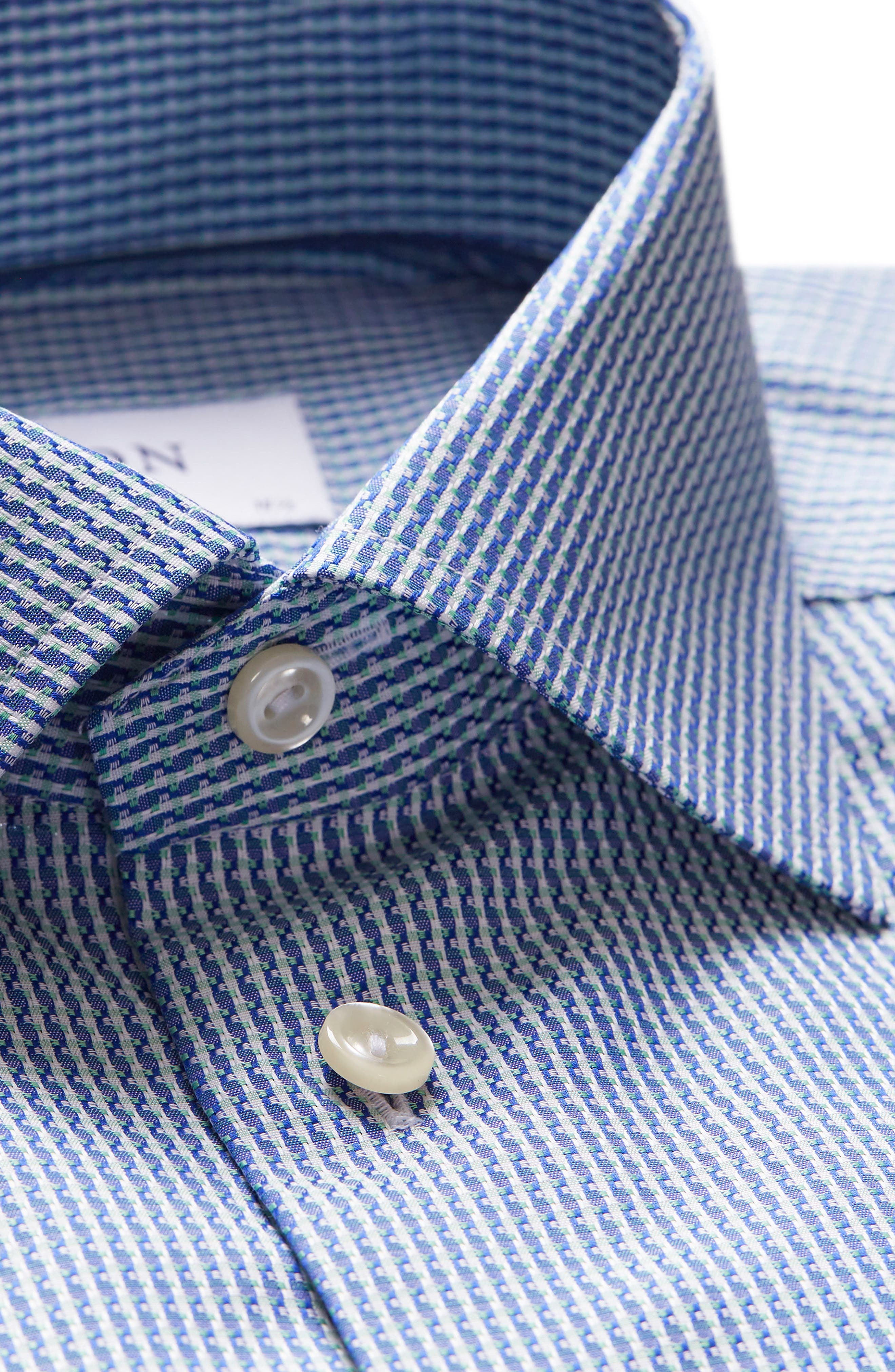 Contemporary Fit Pattern Jacquard Dress Shirt,                             Alternate thumbnail 7, color,                             400