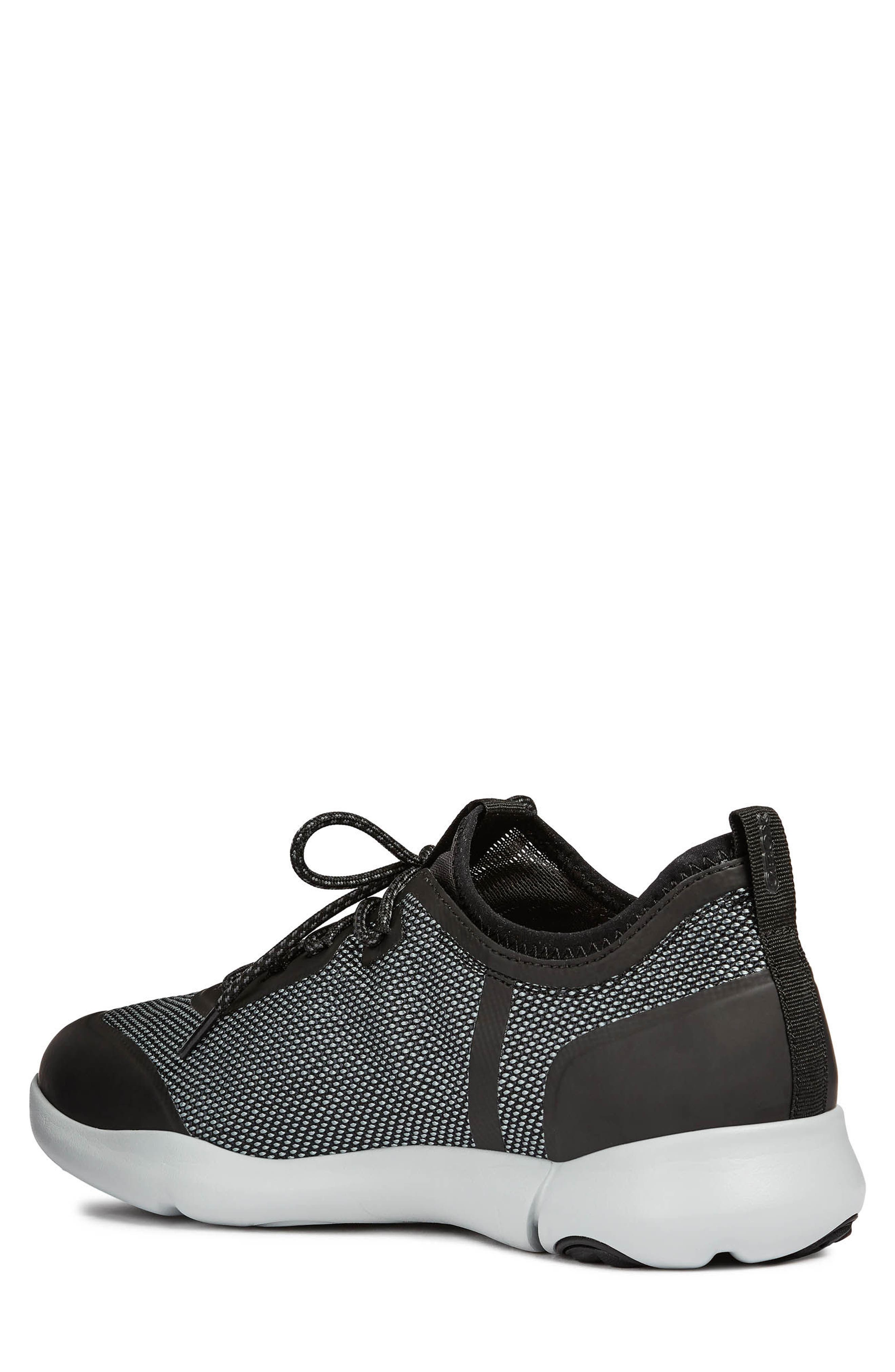 Nebula X 3 Low Top Sneaker,                             Alternate thumbnail 2, color,                             BLACK LEATHER