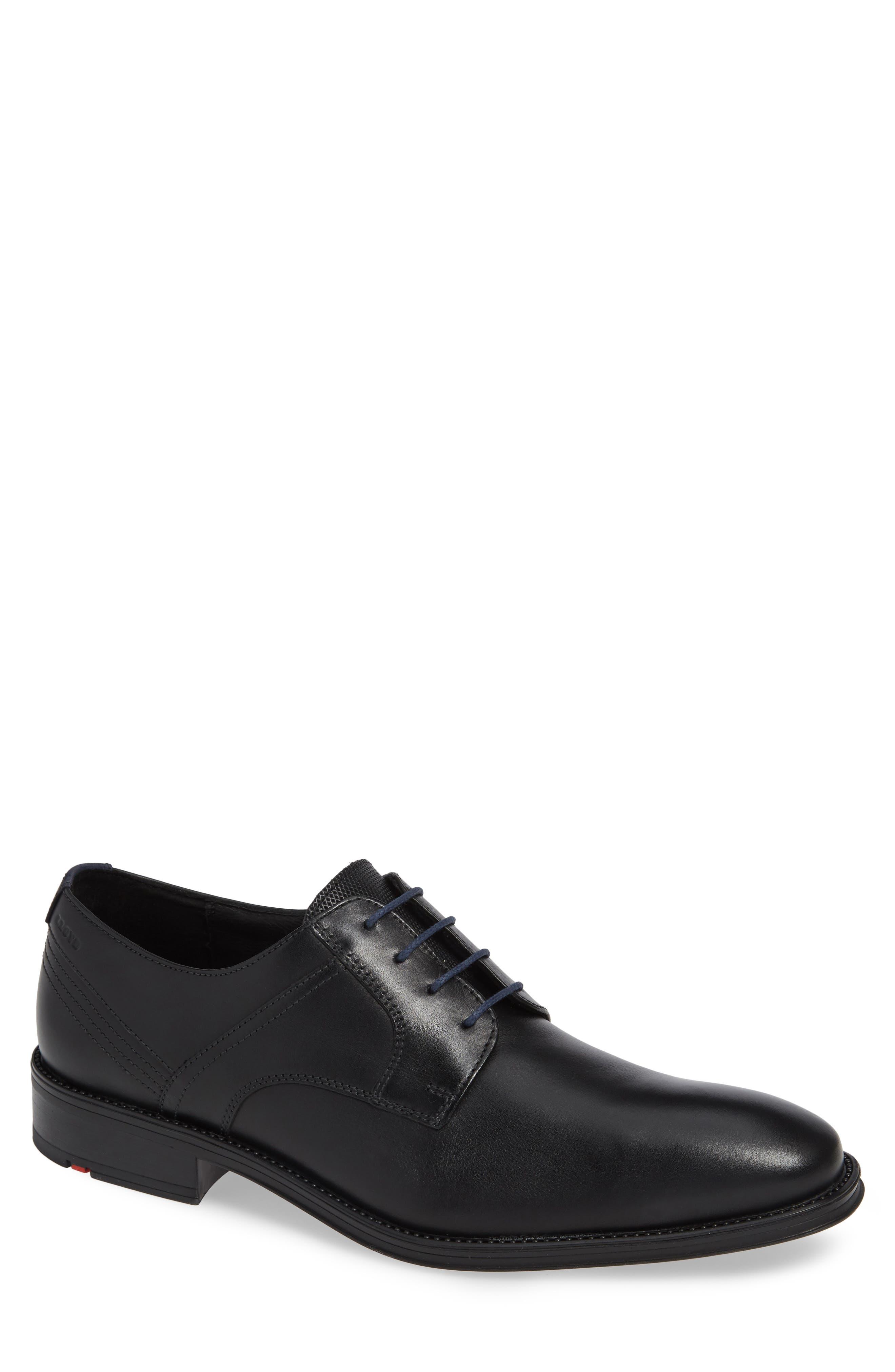 Gala Plain Toe Derby,                         Main,                         color, BLACK/ MIDNIGHT LEATHER