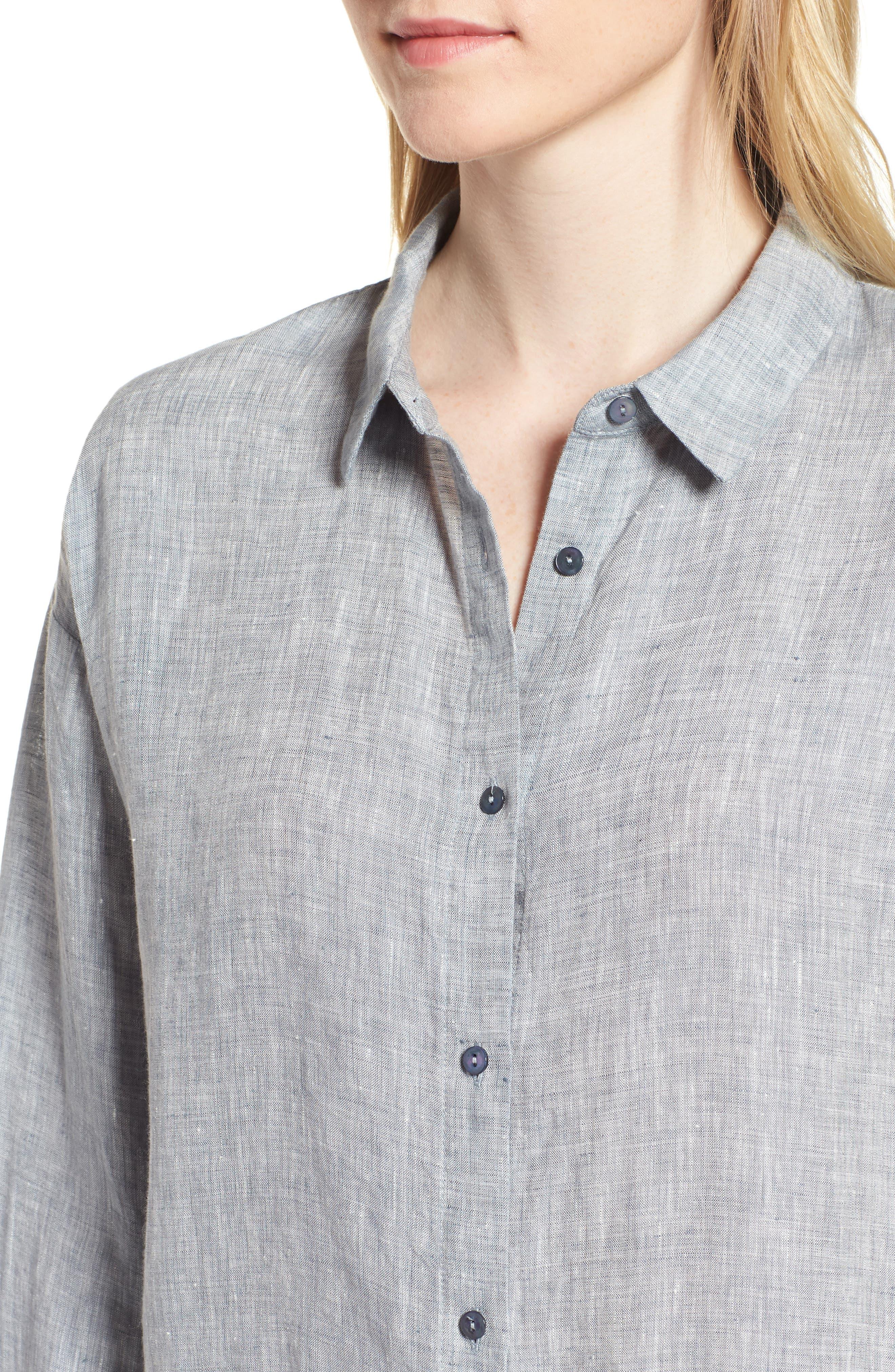 Organic Linen Shirt,                             Alternate thumbnail 9, color,