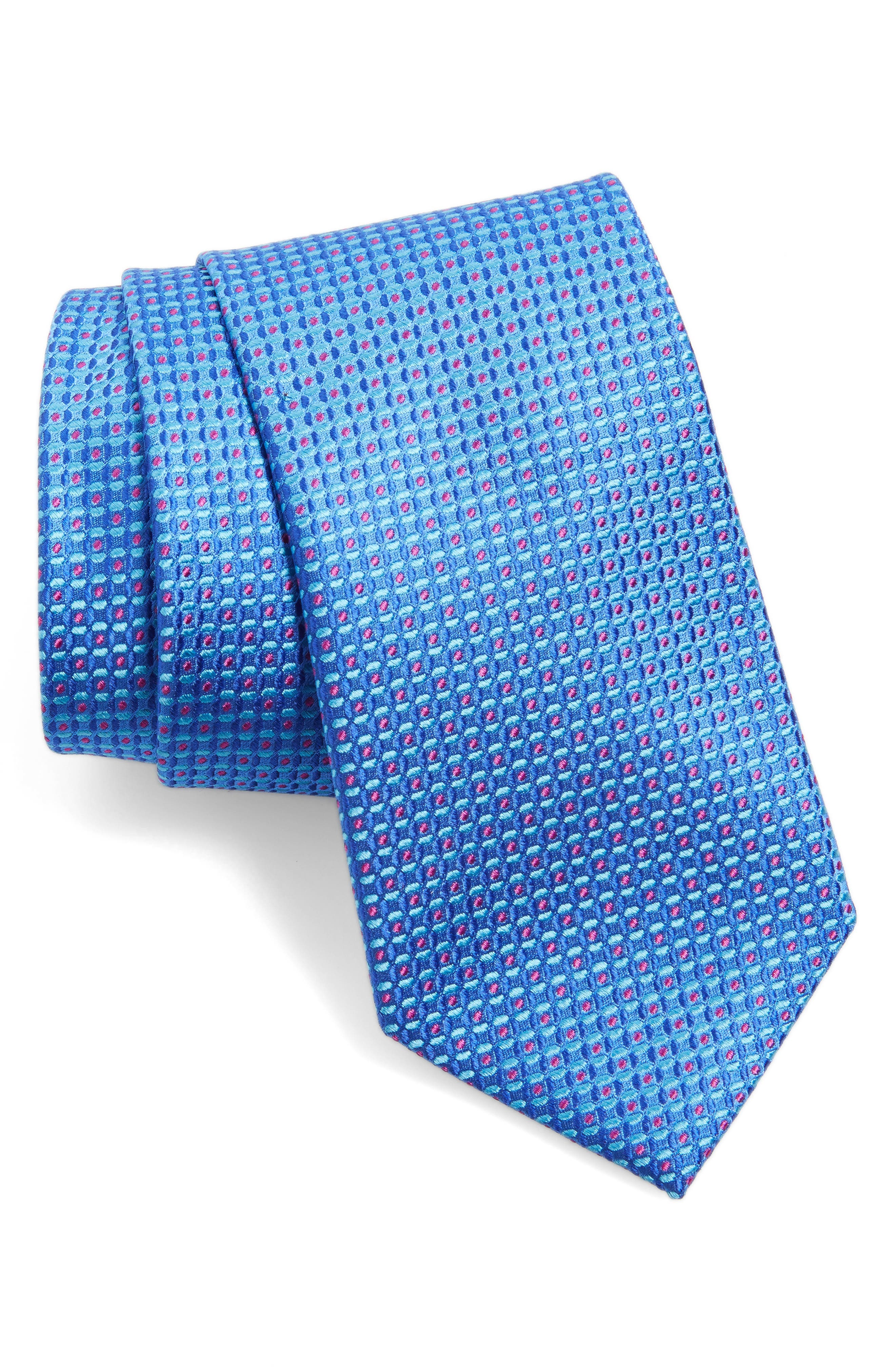 Check Silk Tie,                             Main thumbnail 3, color,