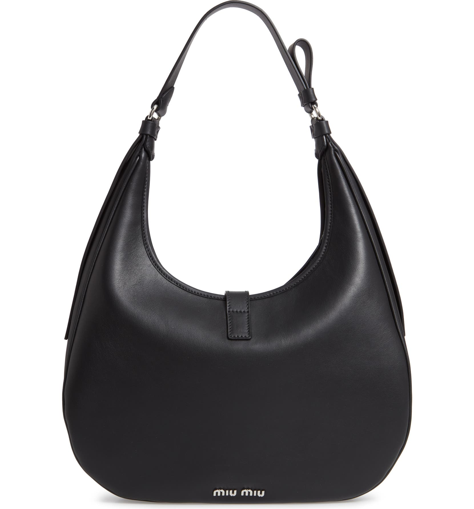 Miu Miu Medium Grace Lux Calfskin Leather Hobo  7a291b5f89ba9