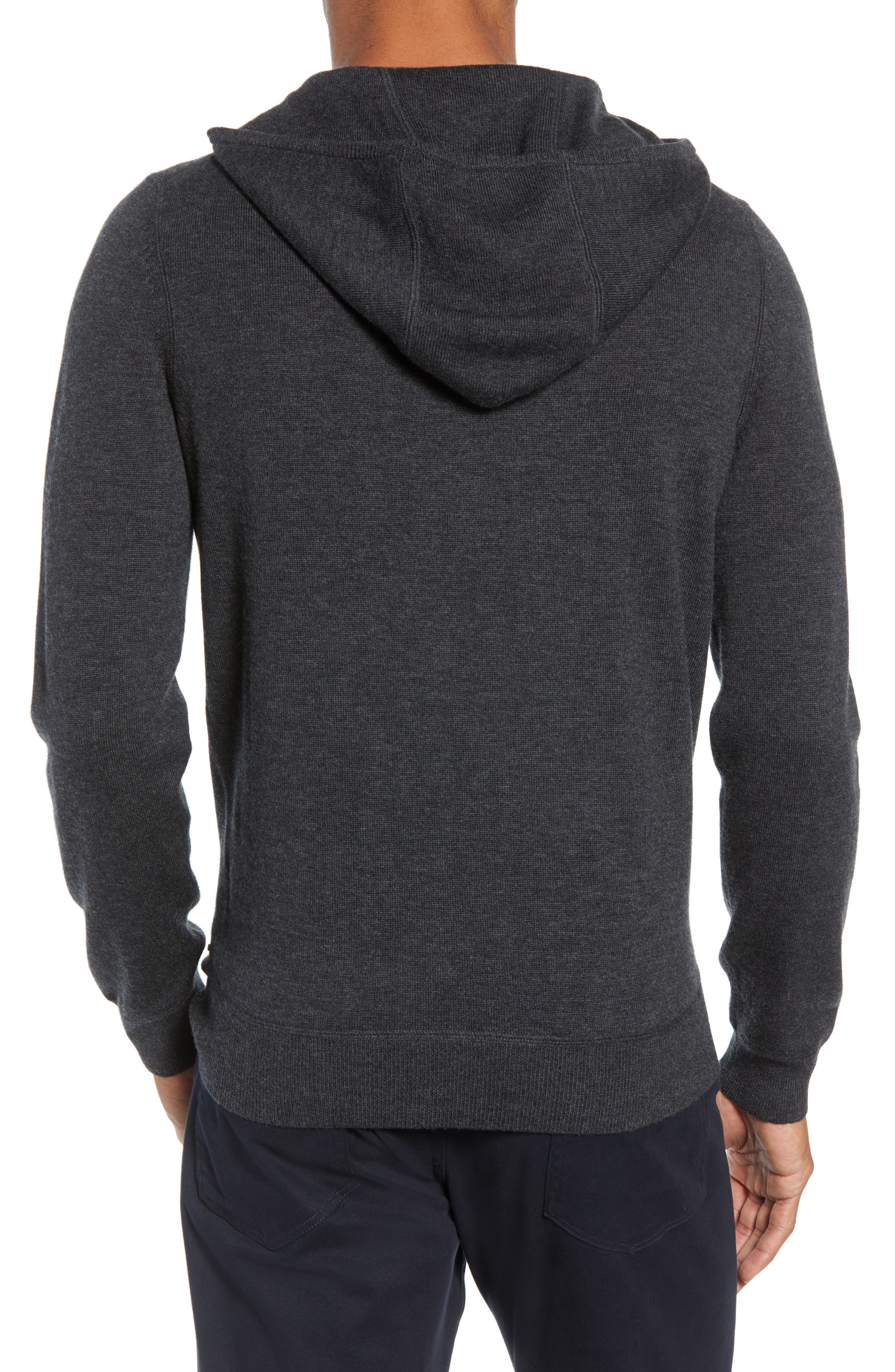 Efabio Wool Blend Hoodie,                             Alternate thumbnail 2, color,                             GREY