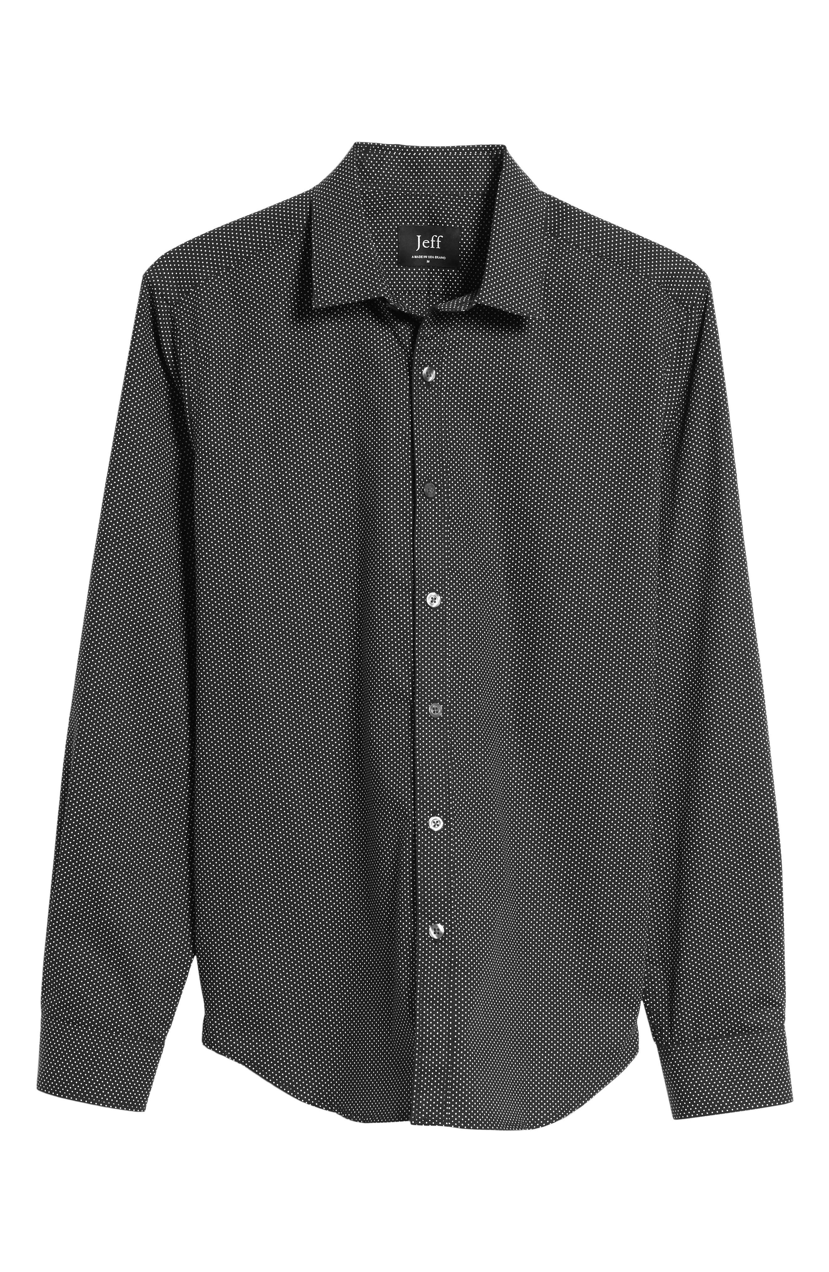 Slim Fit Print Sport Shirt,                             Alternate thumbnail 6, color,                             001