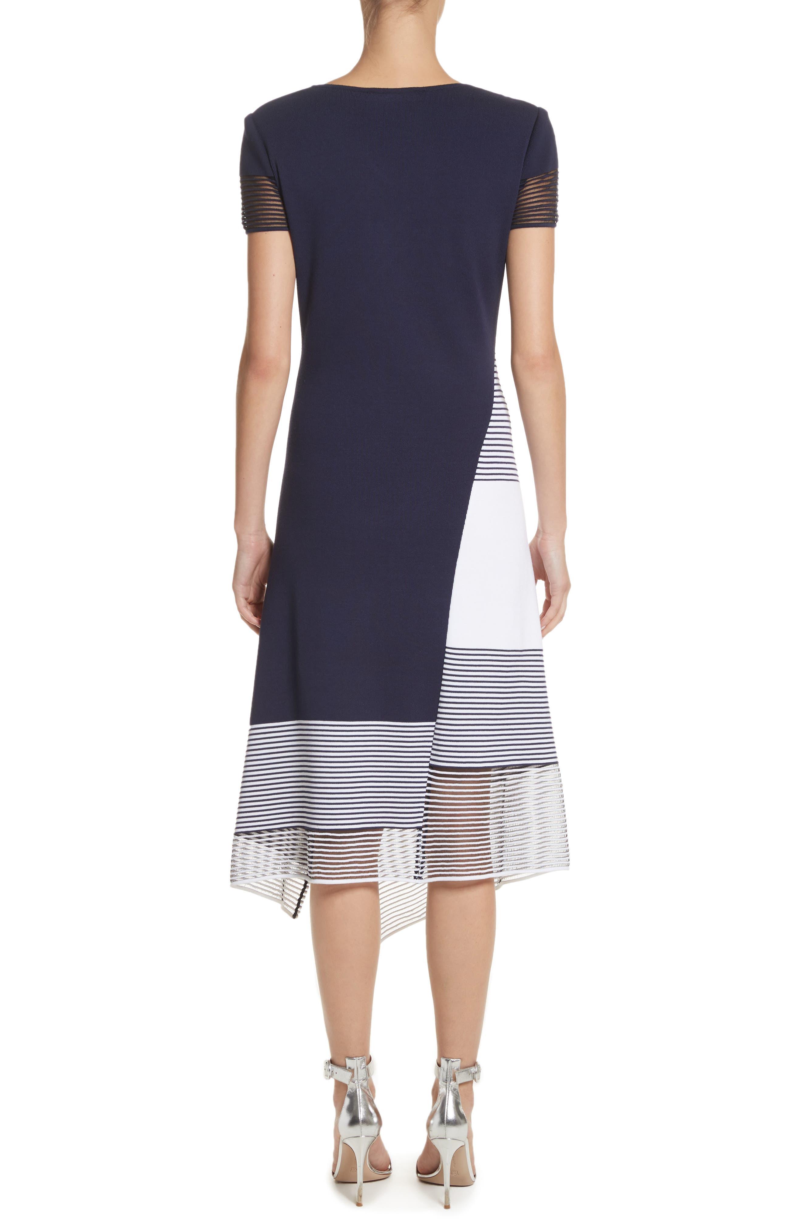 Colorblock Tech Knit Dress,                             Alternate thumbnail 2, color,                             100