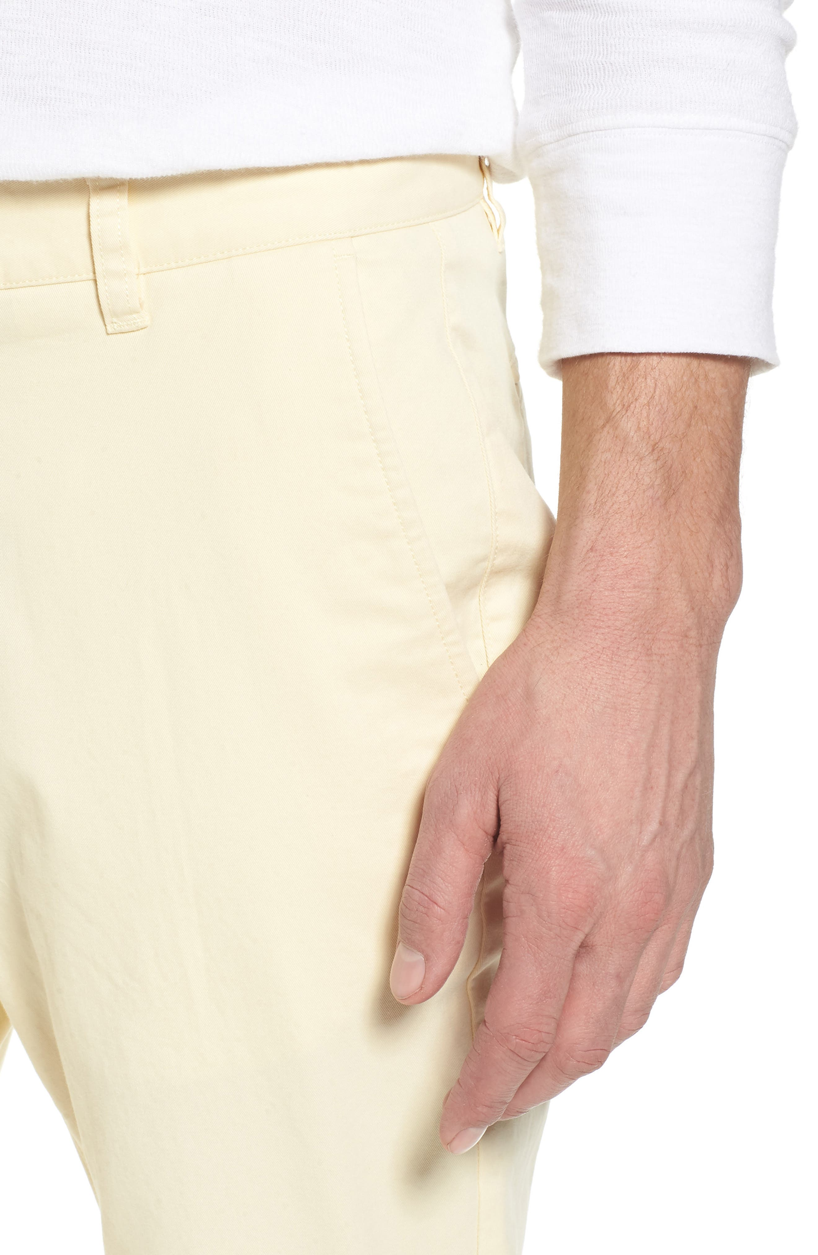 Tailored Fit Washed Stretch Cotton Chinos,                             Alternate thumbnail 125, color,