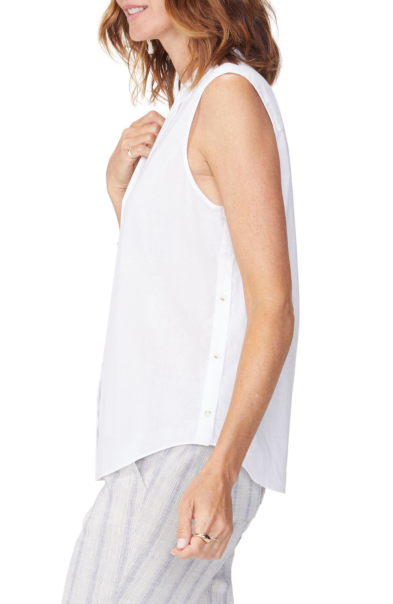Sleeveless Cotton Top,                             Alternate thumbnail 3, color,                             103