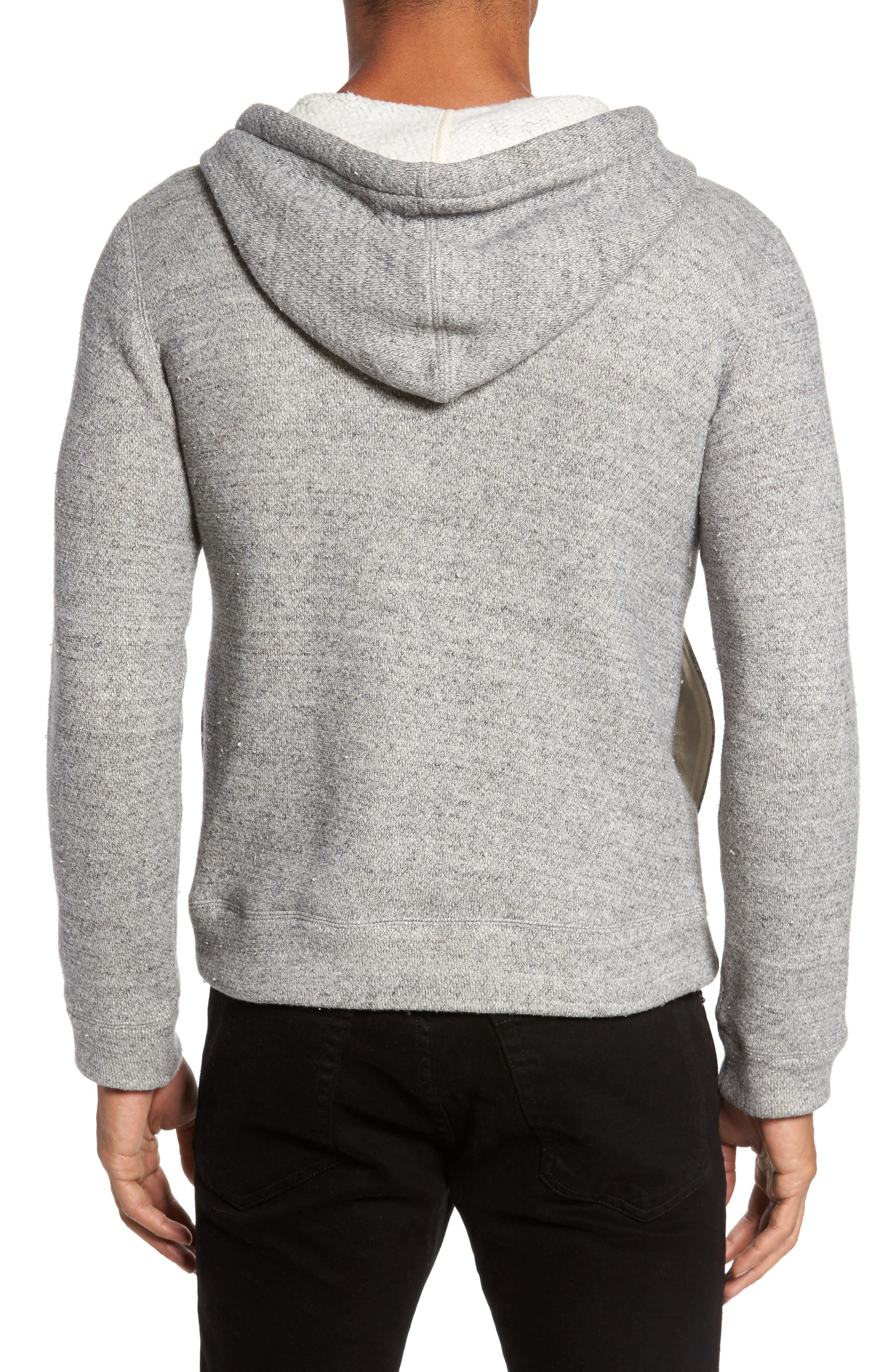 Brushed Cotton Zip Hoodie,                             Alternate thumbnail 2, color,