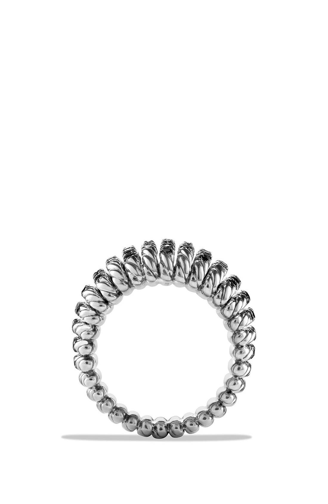 DAVID YURMAN,                             'Tempo' Ring with Spinel,                             Alternate thumbnail 4, color,                             BLACK SPINEL