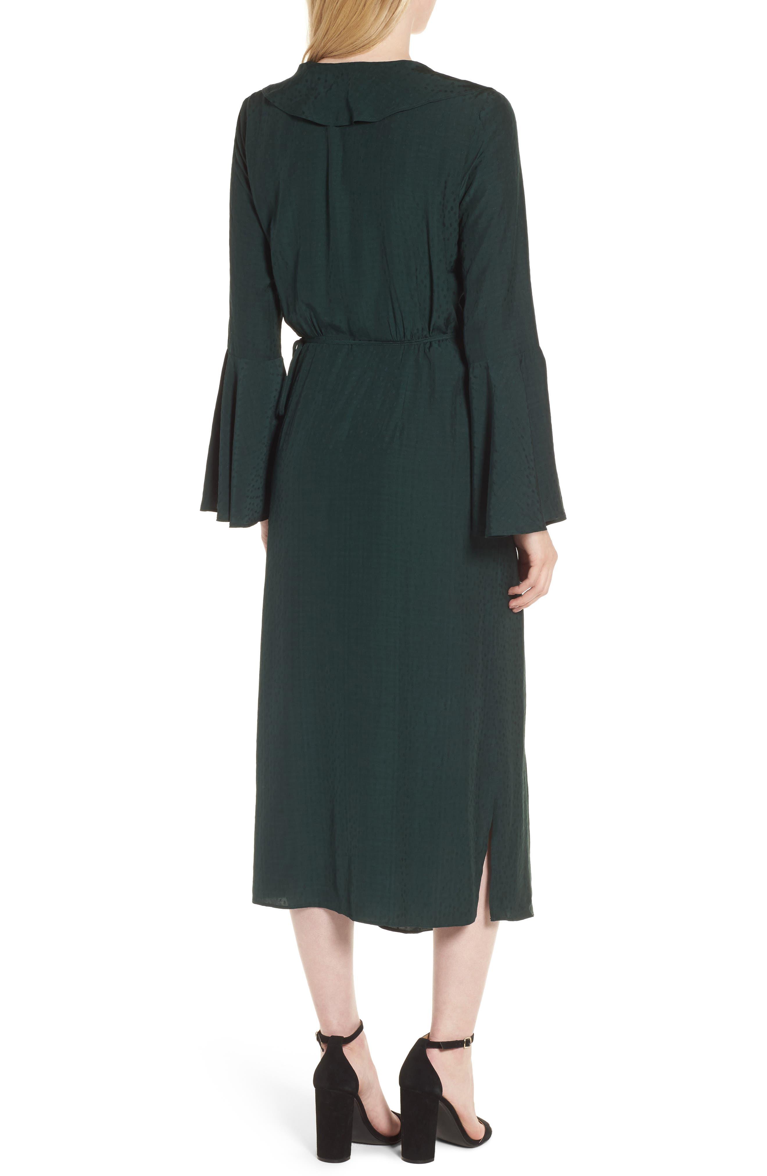 Midi Wrap Dress,                             Alternate thumbnail 2, color,                             301