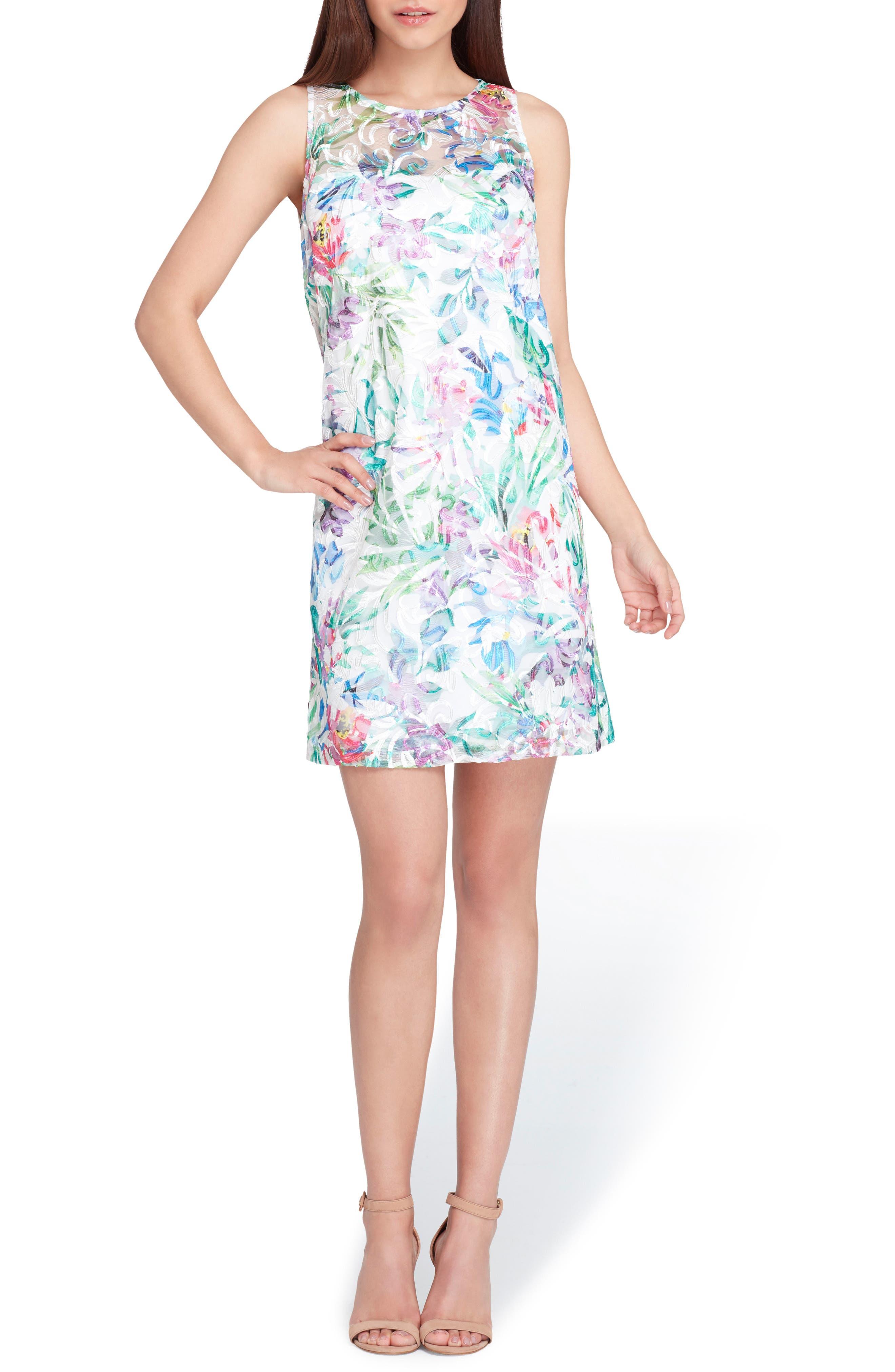 Soutache Sleeveless Shift Dress,                         Main,                         color, 448