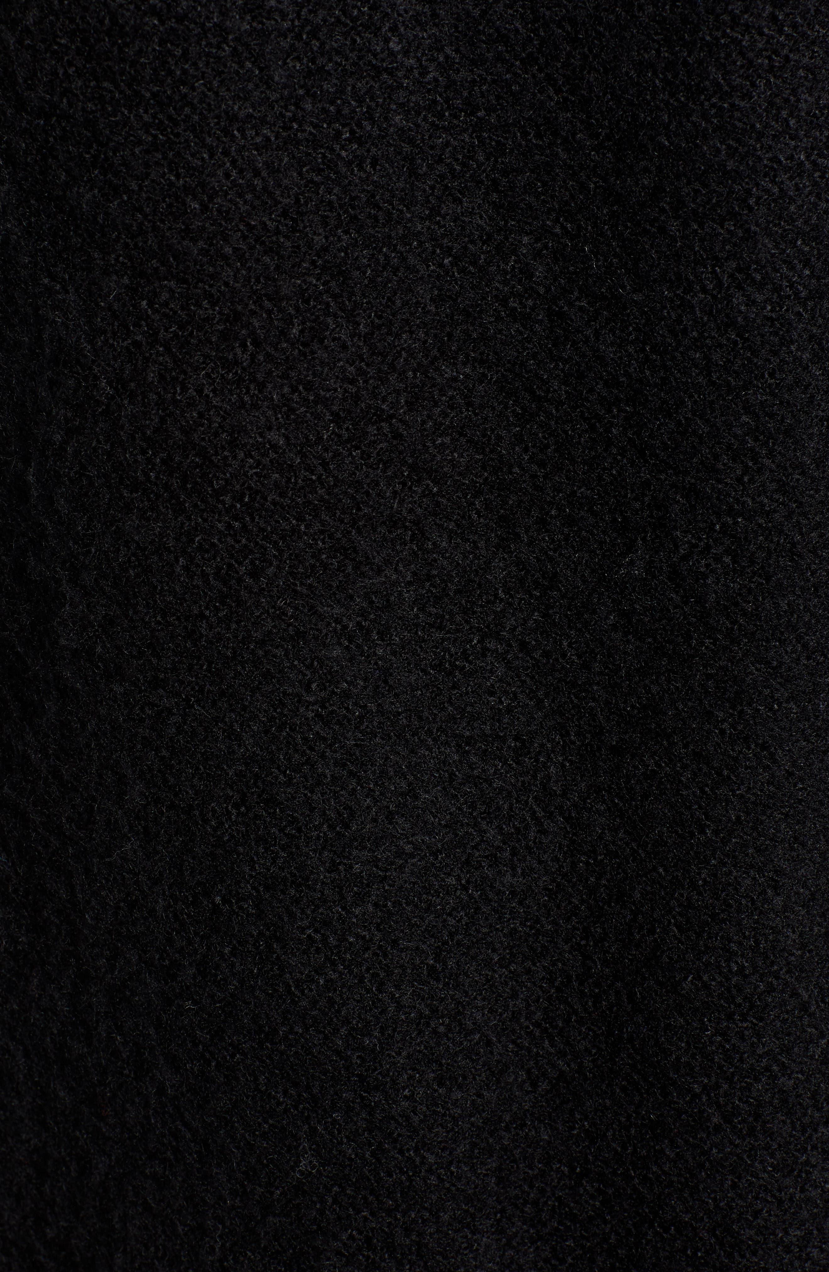 CASLON<SUP>®</SUP>,                             Chunky Stitch Cardigan,                             Alternate thumbnail 5, color,                             BLACK