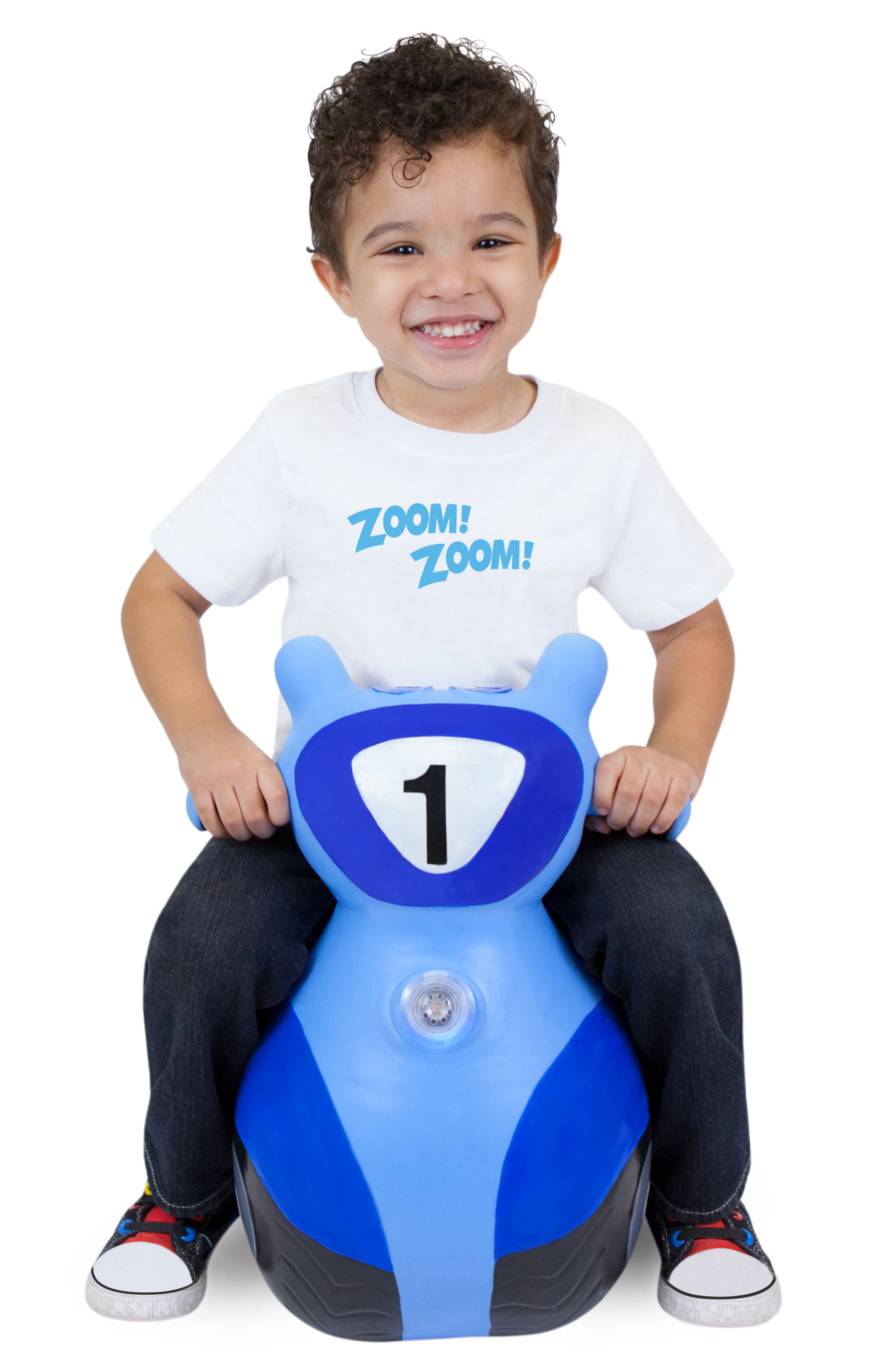 Scooter Bouncy Ride-On Scooter Toy,                             Alternate thumbnail 3, color,                             BLUE