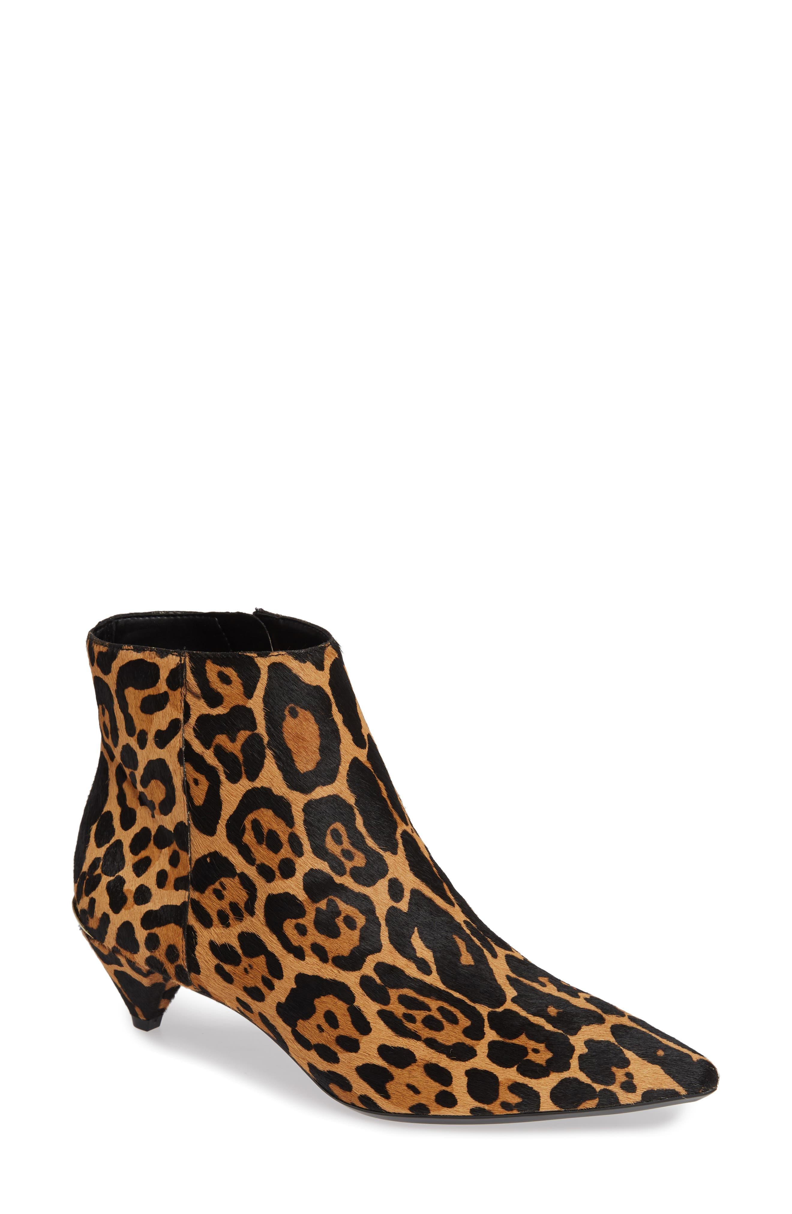 Calvin Klein Larissa Kitten Heel Bootie- Brown