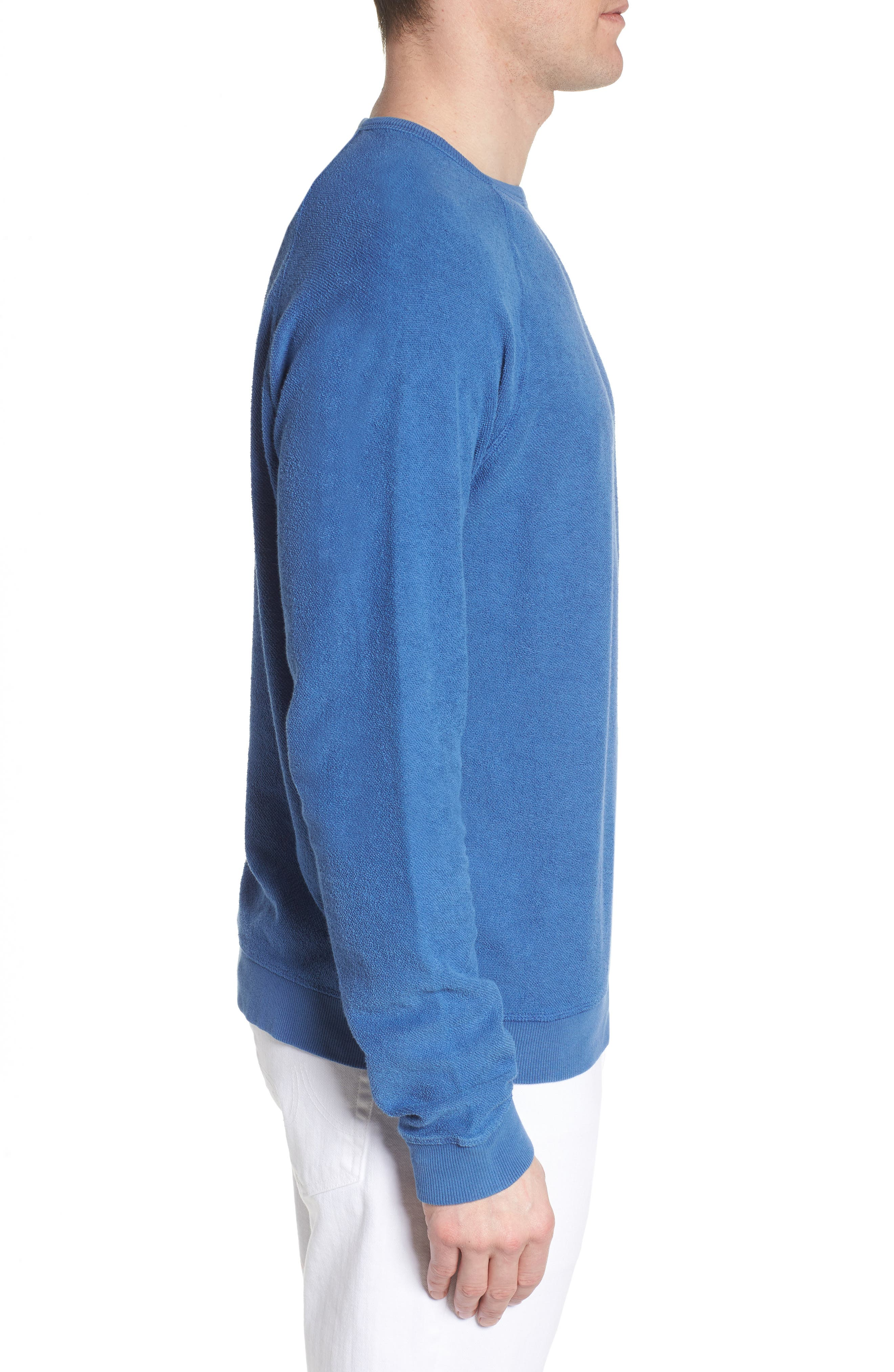 Mason Regular Fit Sweatshirt,                             Alternate thumbnail 3, color,                             TIDE