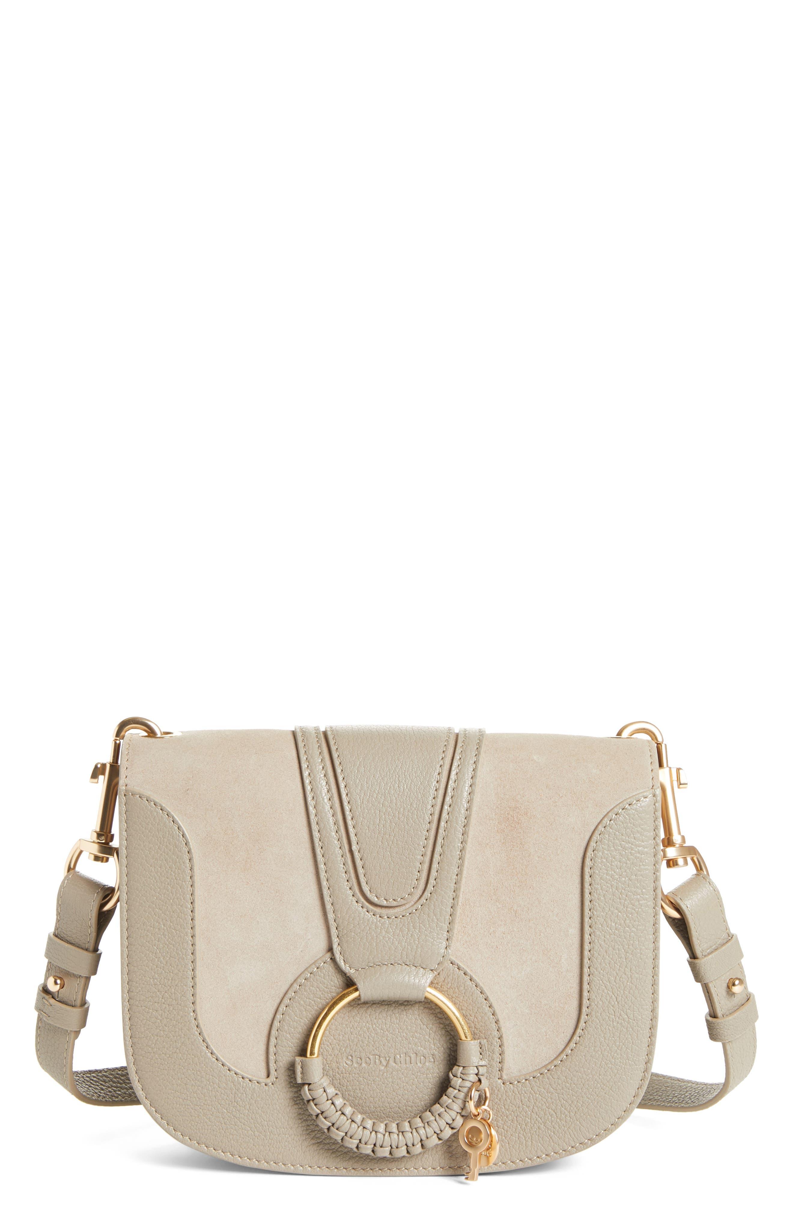See By Chloe Hana Suede & Leather Shoulder Bag -