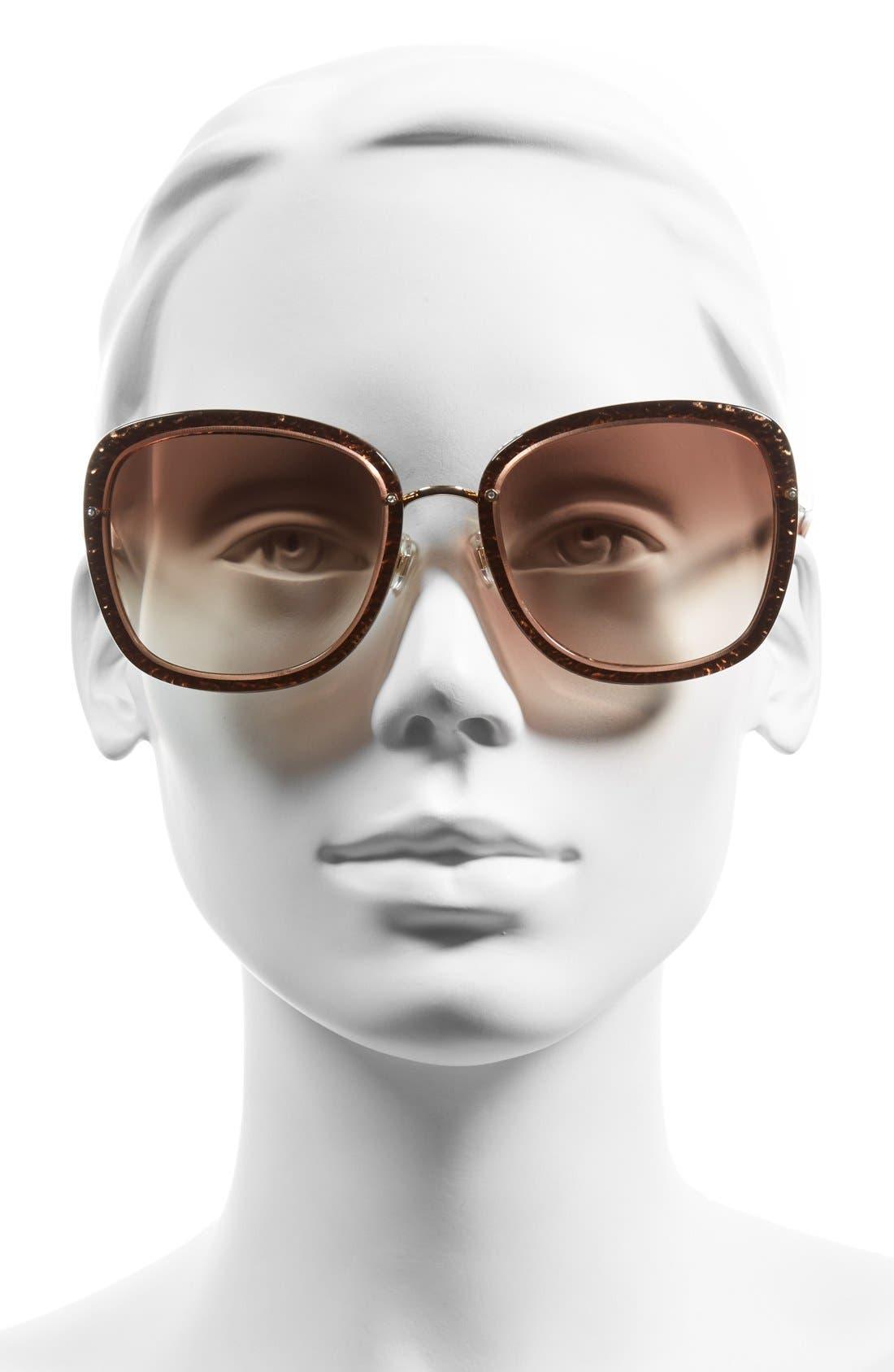 KATE SPADE NEW YORK,                             'scottie' 56mm retro sunglasses,                             Alternate thumbnail 2, color,                             200