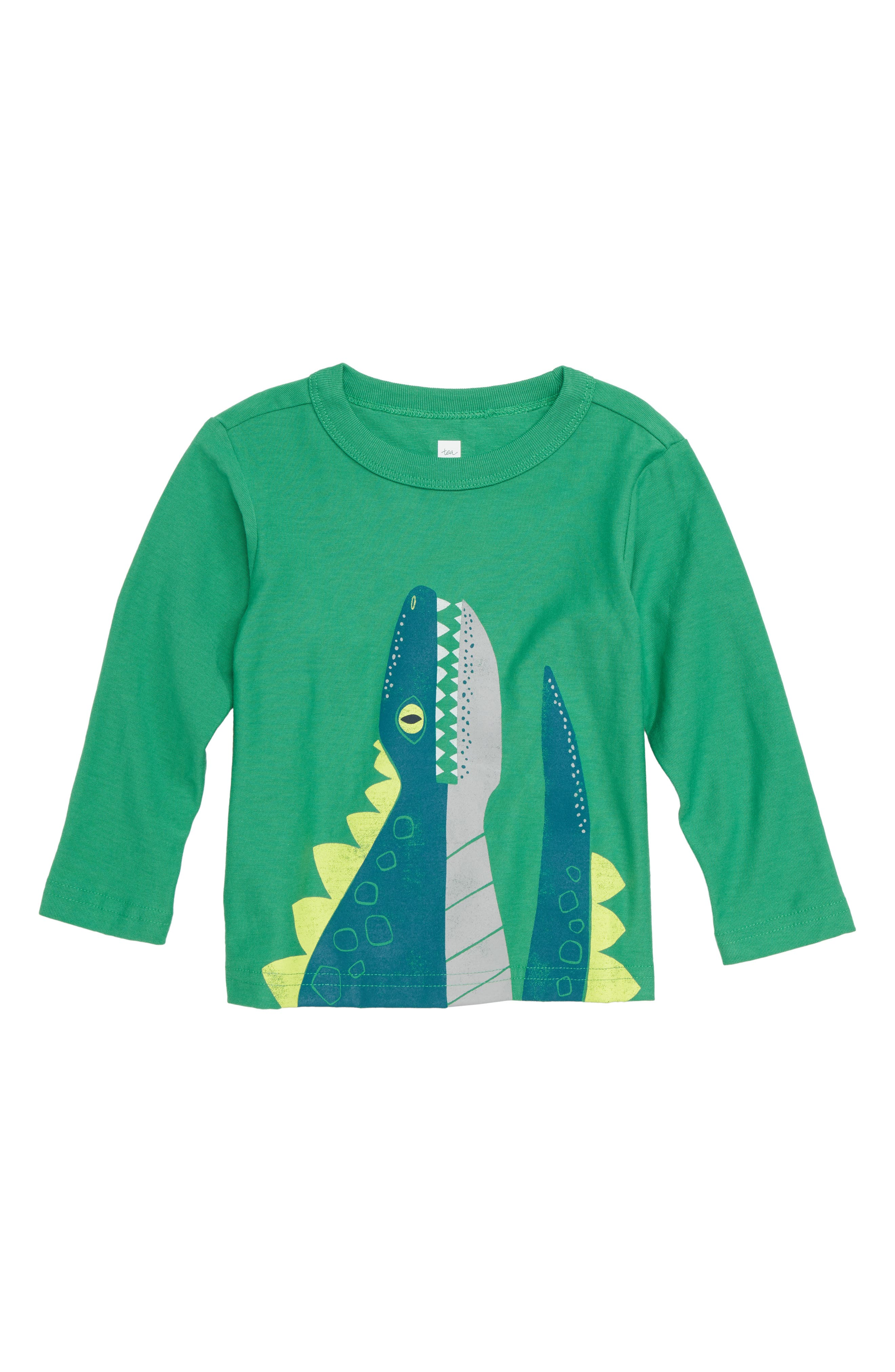 Dino T-Shirt,                         Main,                         color, SPINACH