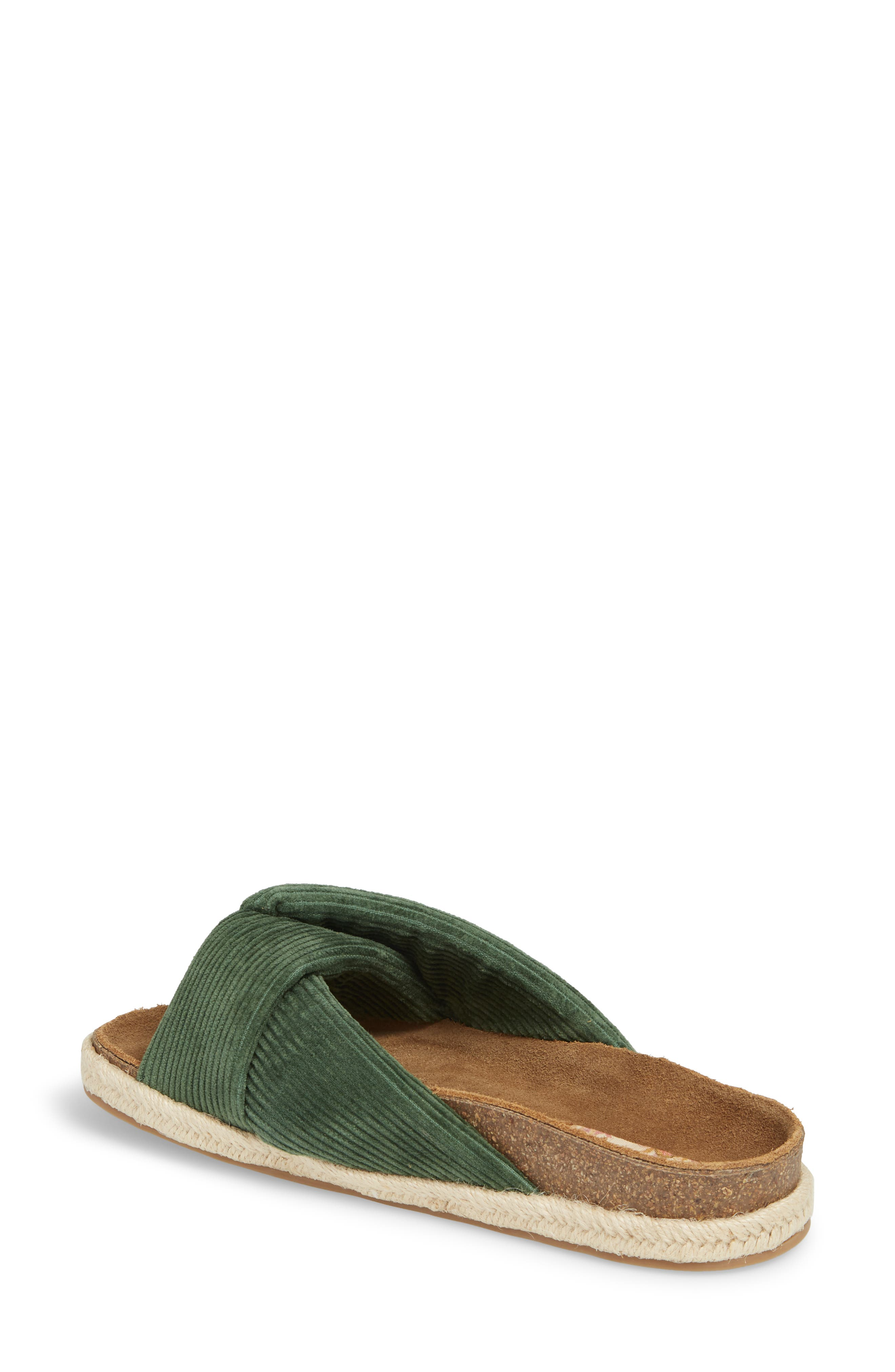 Move Over Flat Sandal,                             Alternate thumbnail 2, color,                             OLIVE