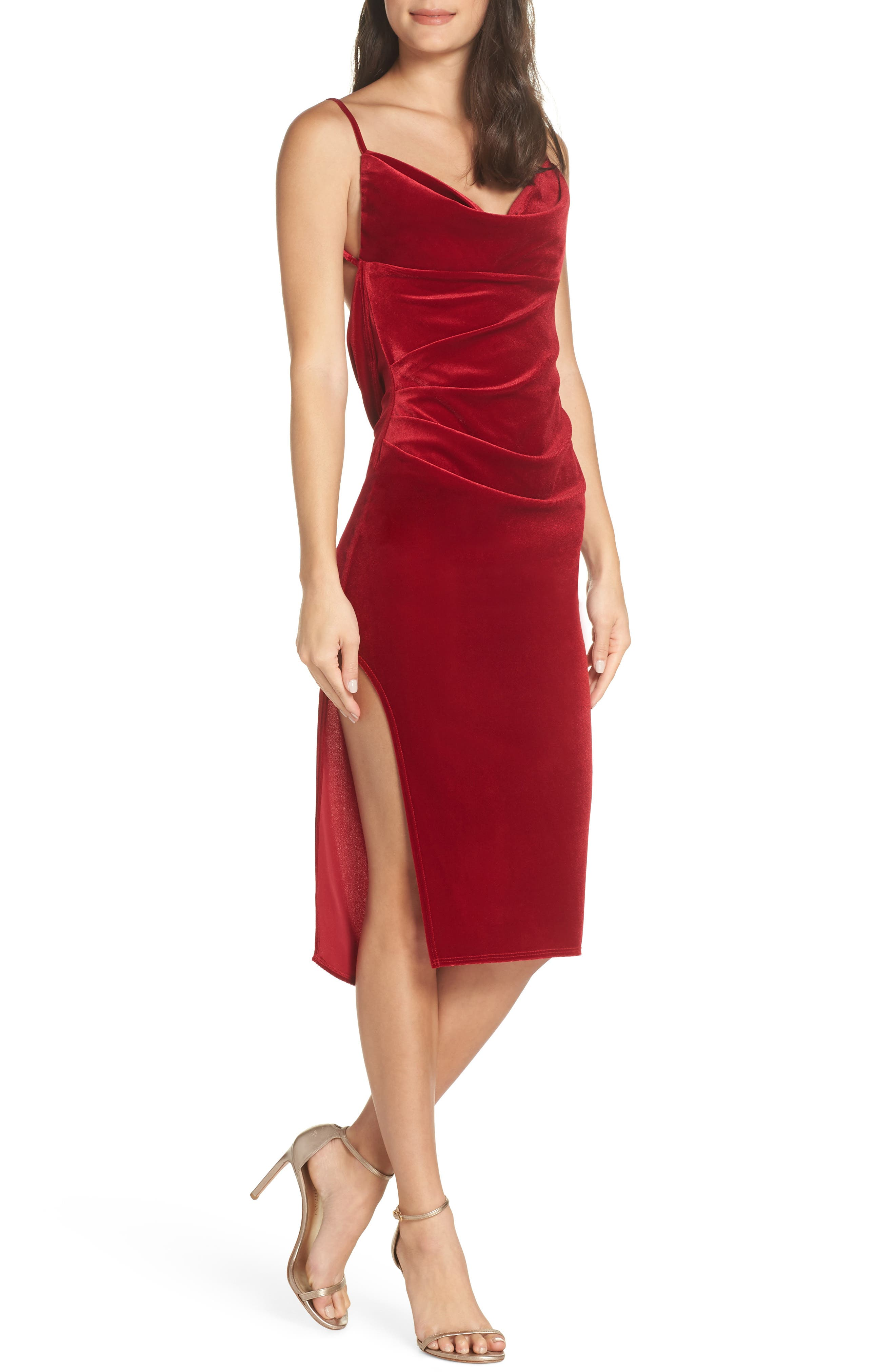 Katie May Cowl Neck Gathered Dress