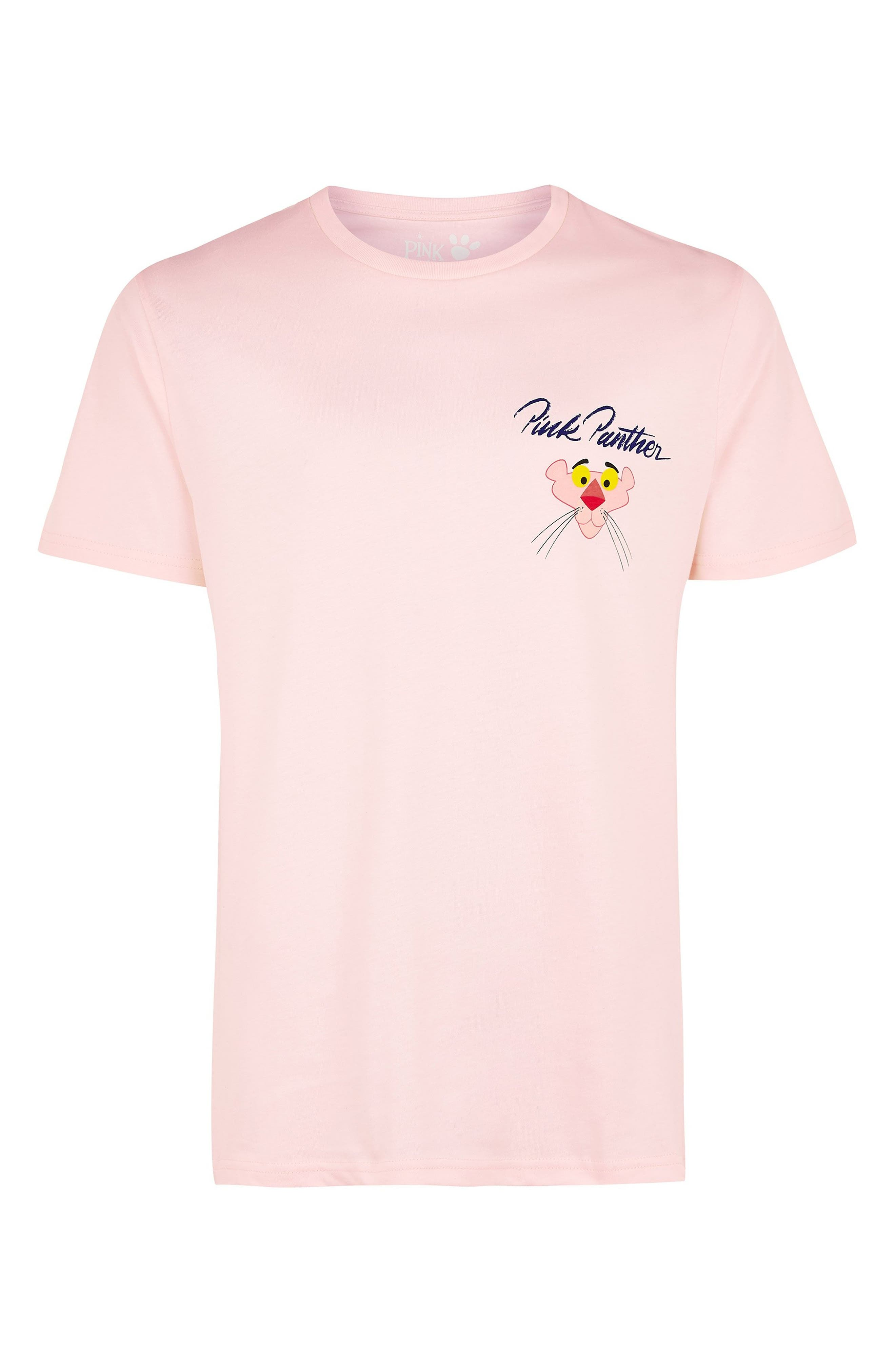 Pink Panther Graphic T-Shirt,                             Alternate thumbnail 4, color,                             PINK