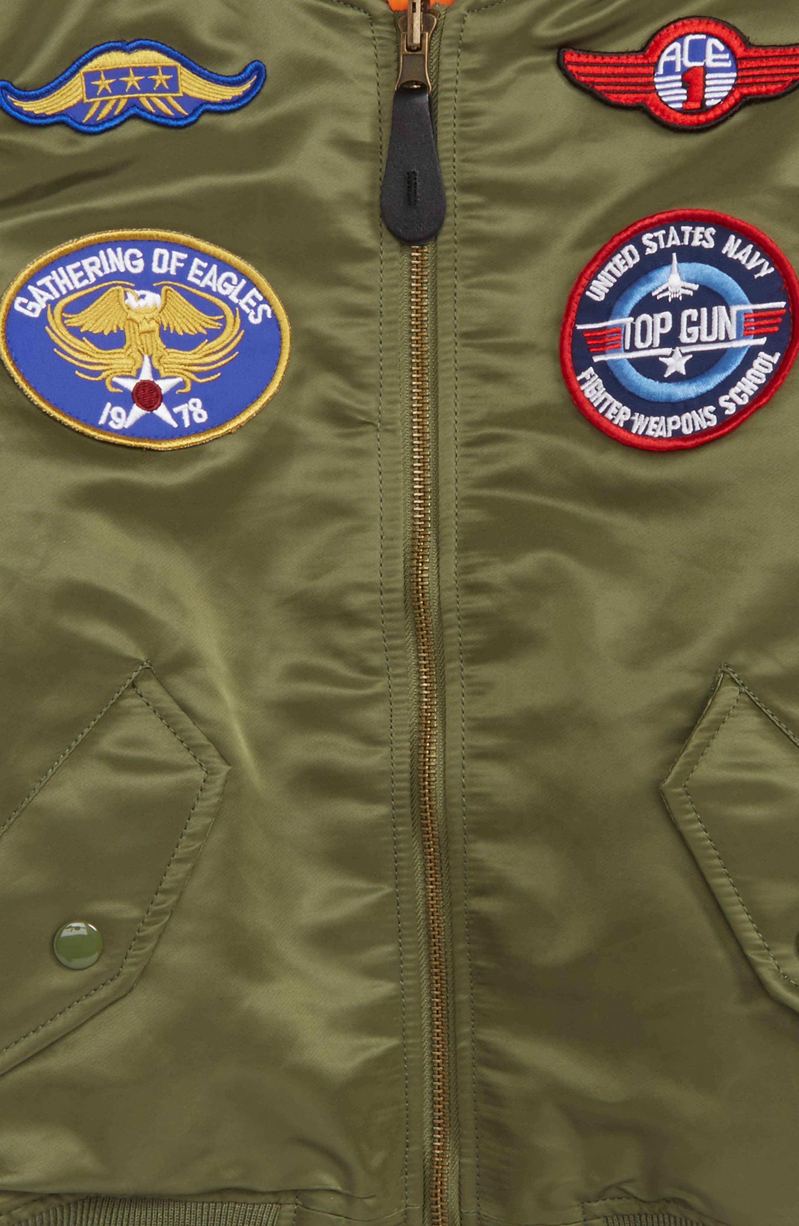 ALPHA INDUSTRIES,                             MA-1 Patch Flight Jacket,                             Alternate thumbnail 2, color,                             SAGE GREEN