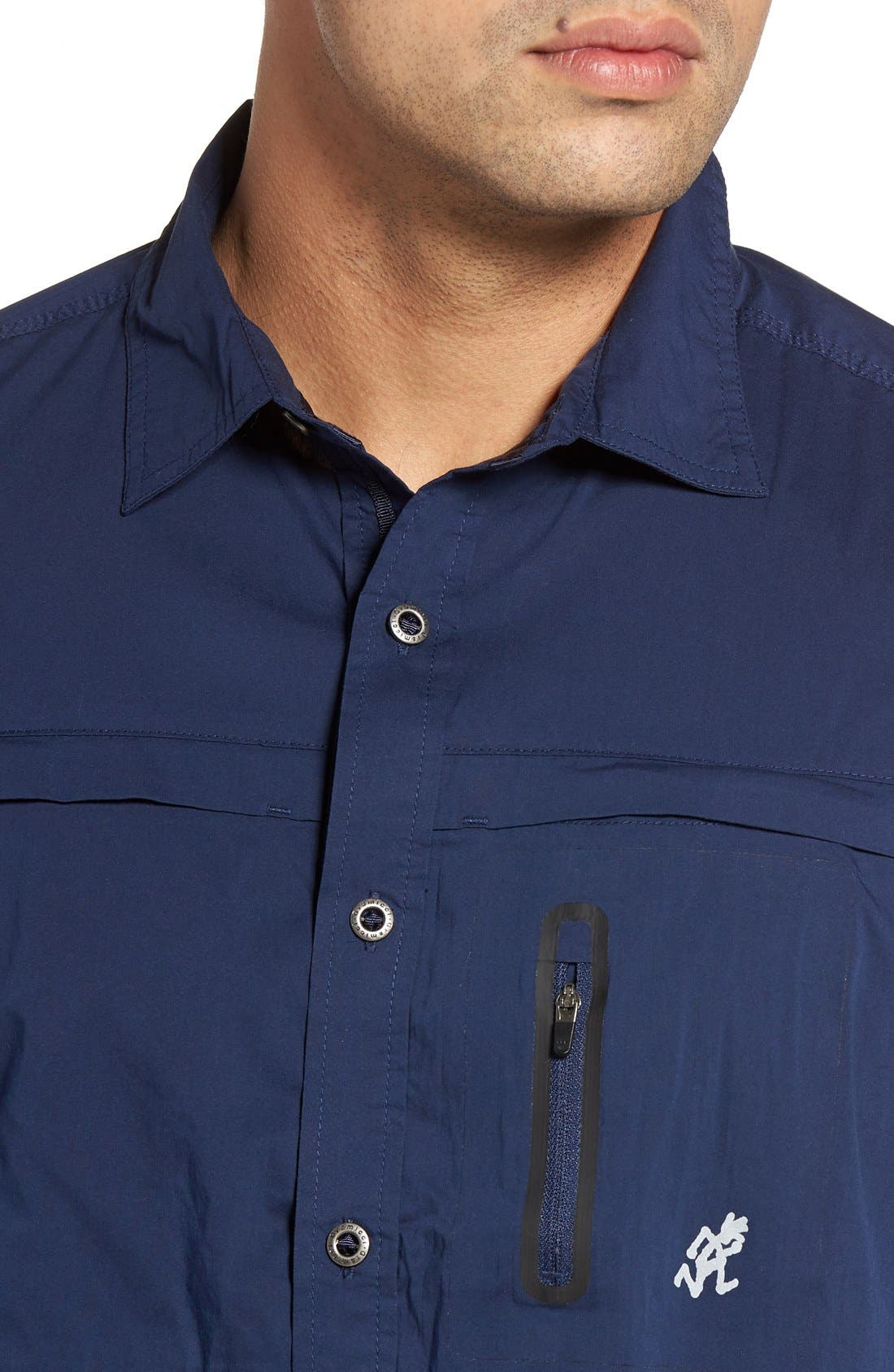 NO-Squito Regular Fit Travel Shirt,                             Alternate thumbnail 7, color,                             408